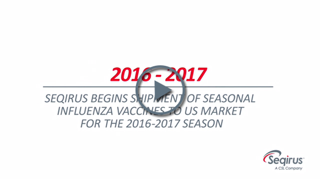 Seqirus now shipping its complete portfolio of seasonal influenza vaccines to US market for the 2016-2017 season