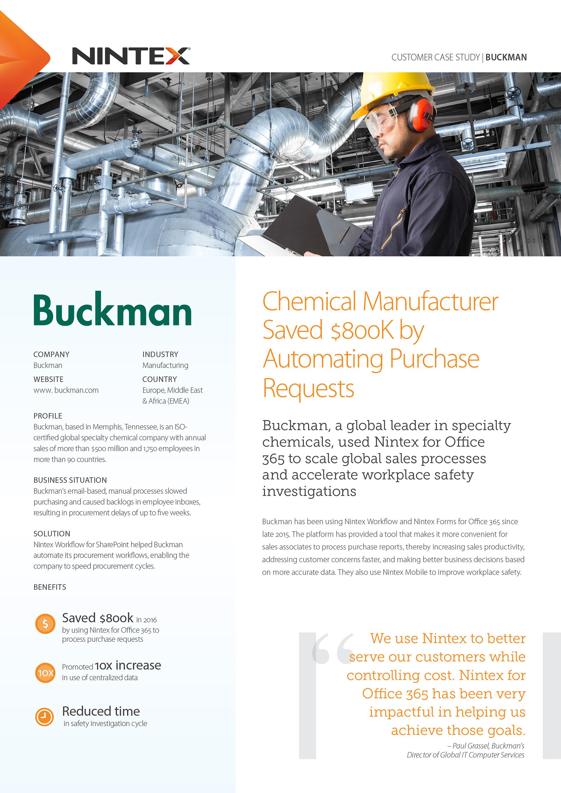 Case Study – Buckman