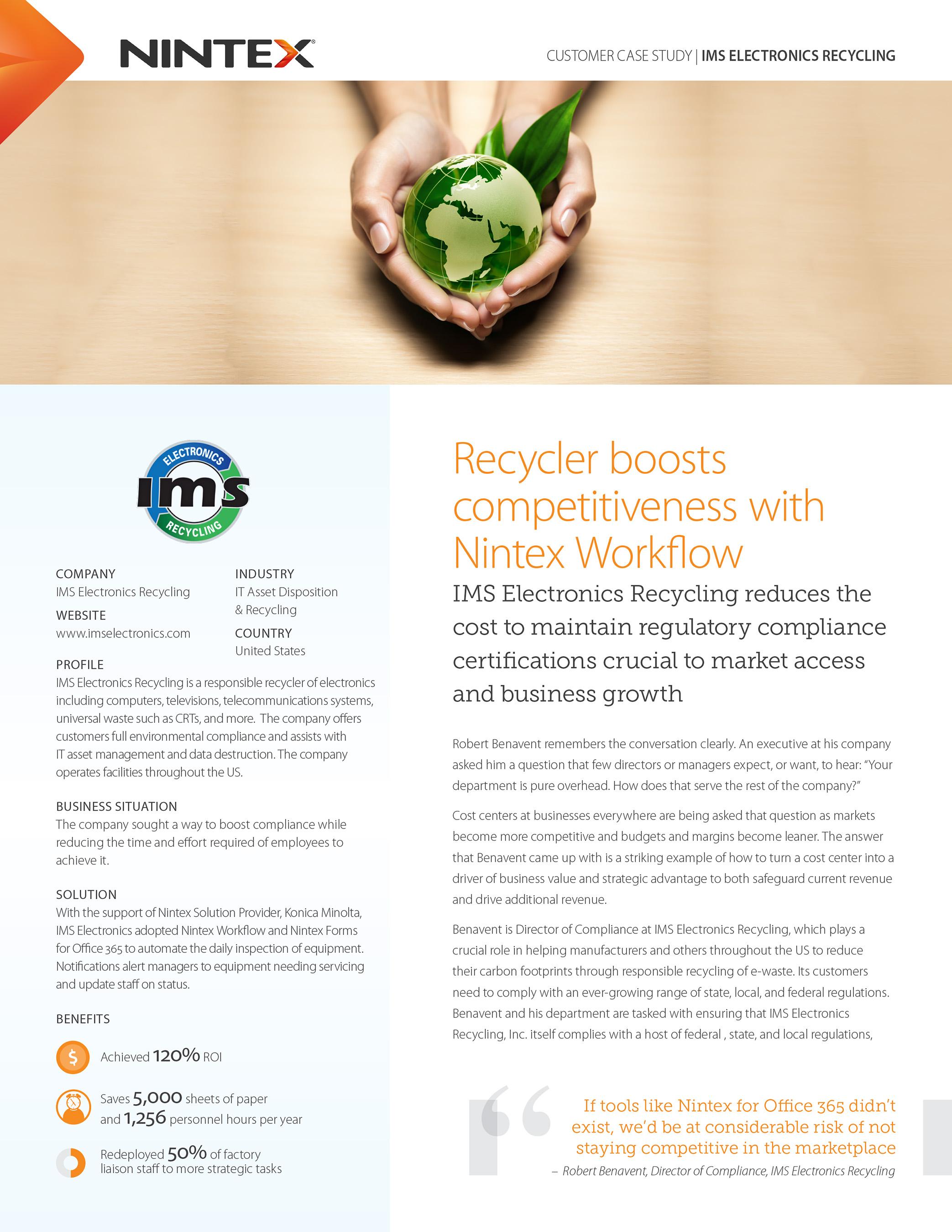 Case Study - IMS Electronics Recycling