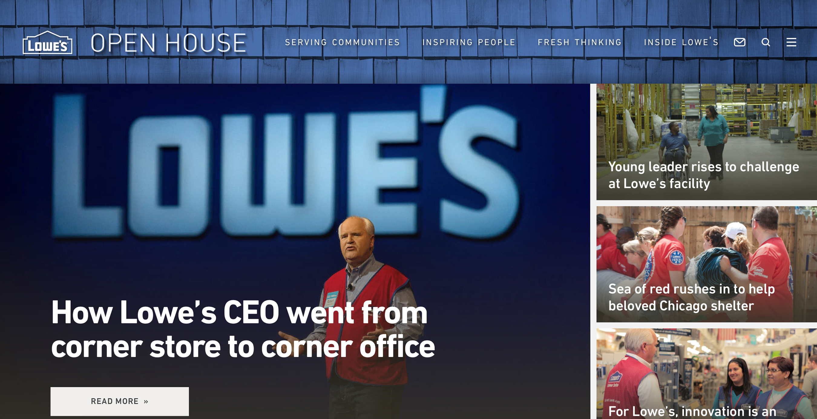 Lowe's launches Open House, an interactive newsroom and the company's first digital platform dedicated to taking people behind the brand.
