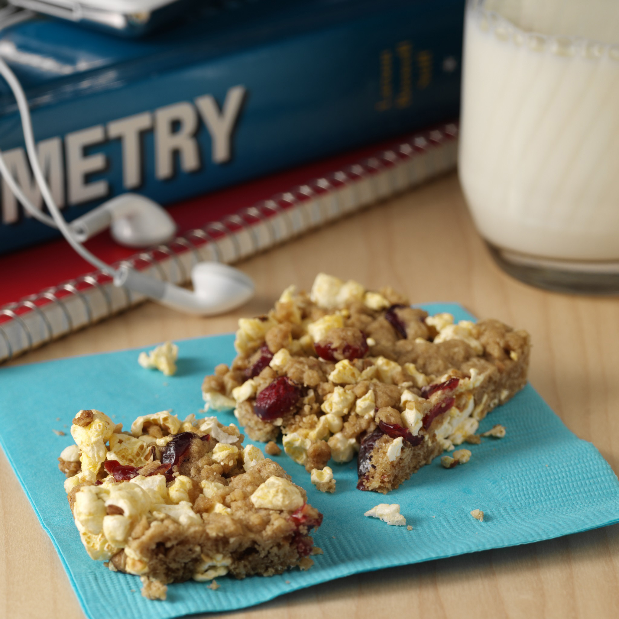 With microwave popcorn, oats, cinnamon, brown sugar and dried cranberries, Orville Redenbacher's Power Crunch Bars can be enjoyed at home or on the go.