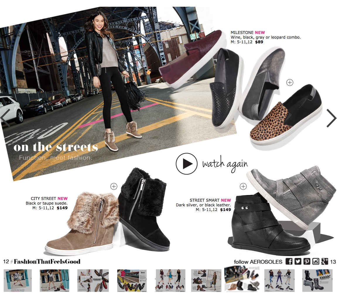 Aerosoles Launches Multimedia Shopping Experience