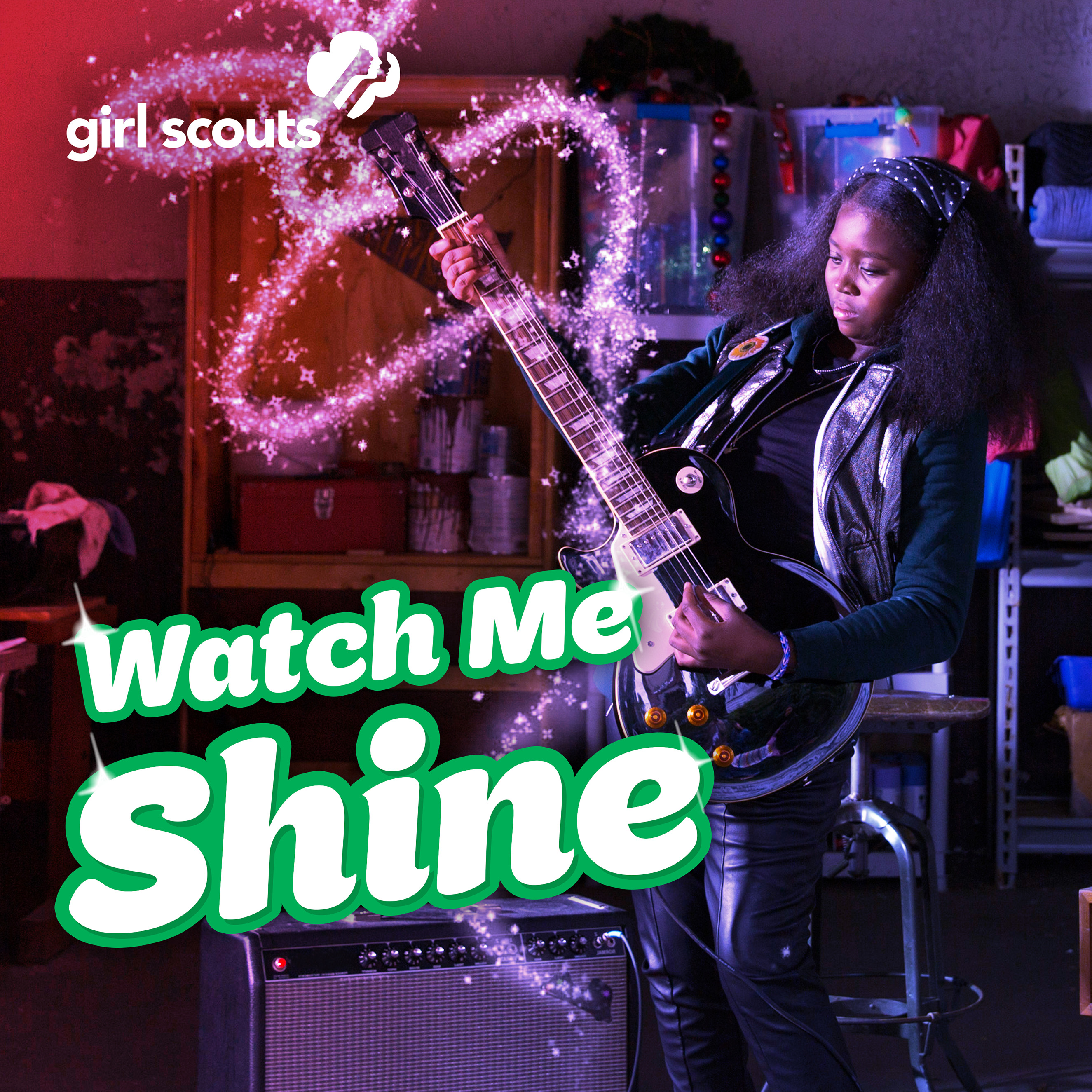 """The PSA is set to Girl Scouts' new powerful pop anthem, """"Watch Me Shine,"""" co-written by songwriters Liz Rose and Emily Shackelton."""