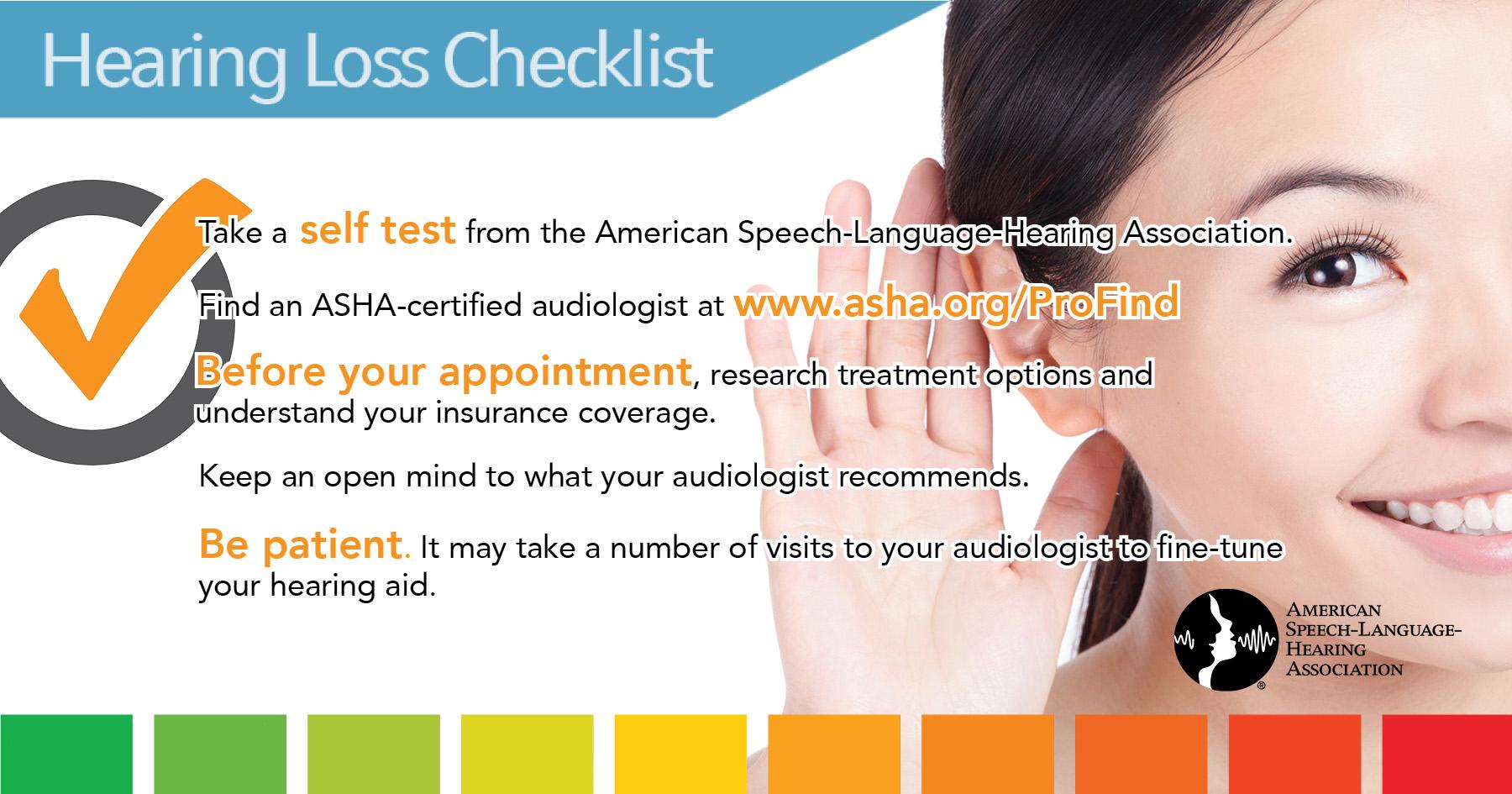 Hearing Loss Checklist