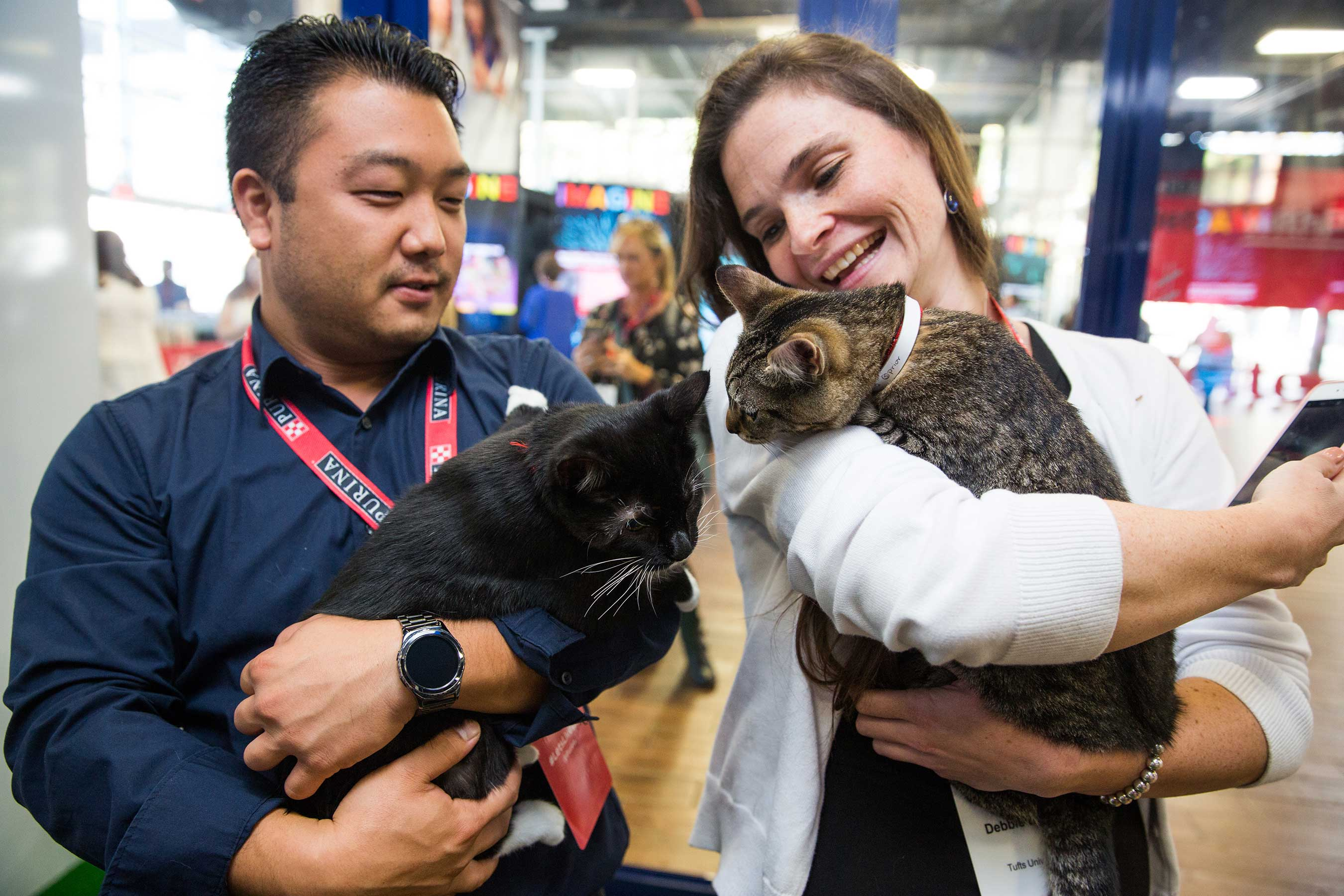 Attendees learned about the advantages of pet therapy and got a first-hand look at how pets impact our emotional well-being while playing with adoptable pets from North Shore Animal League America.