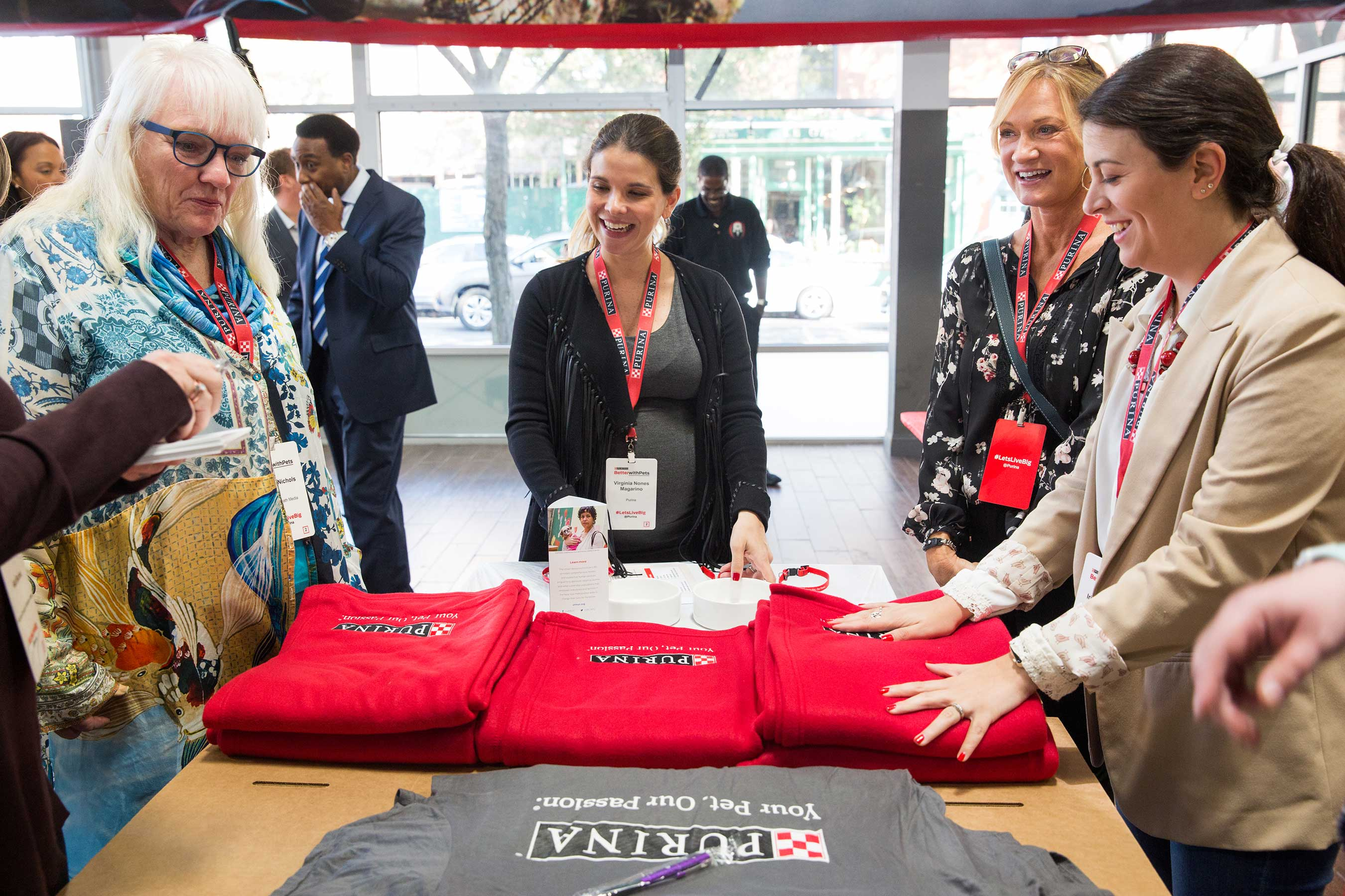 Attendees at Purina's Better with Pets Summit created 'welcome kits' for domestic violence survivors who are staying at the new Urban Resource Institute's pet-friendly shelter in New York City.