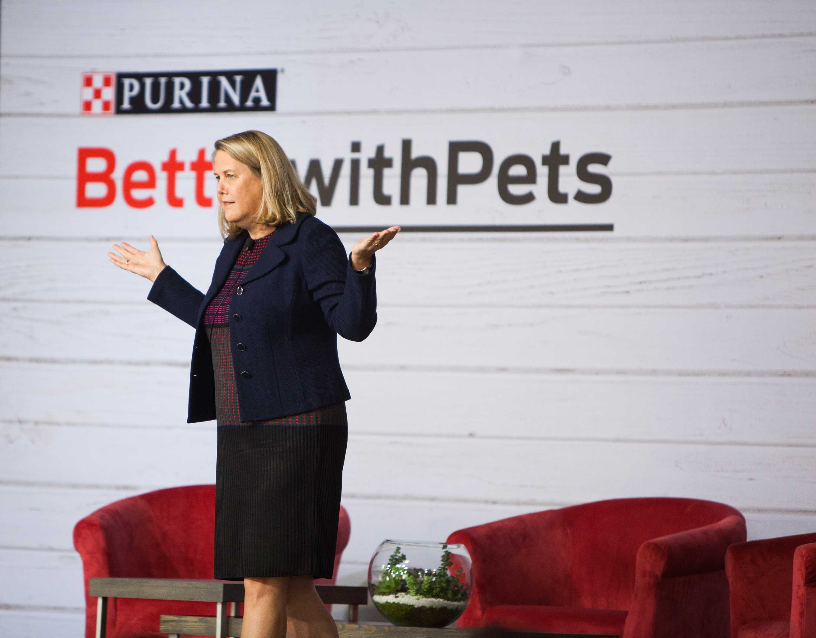 During Purina's Better with Pets Summit, Nina Leigh Krueger, President of Nestlé Purina U.S., discussed how pets and people can live bigger, happier lives together.