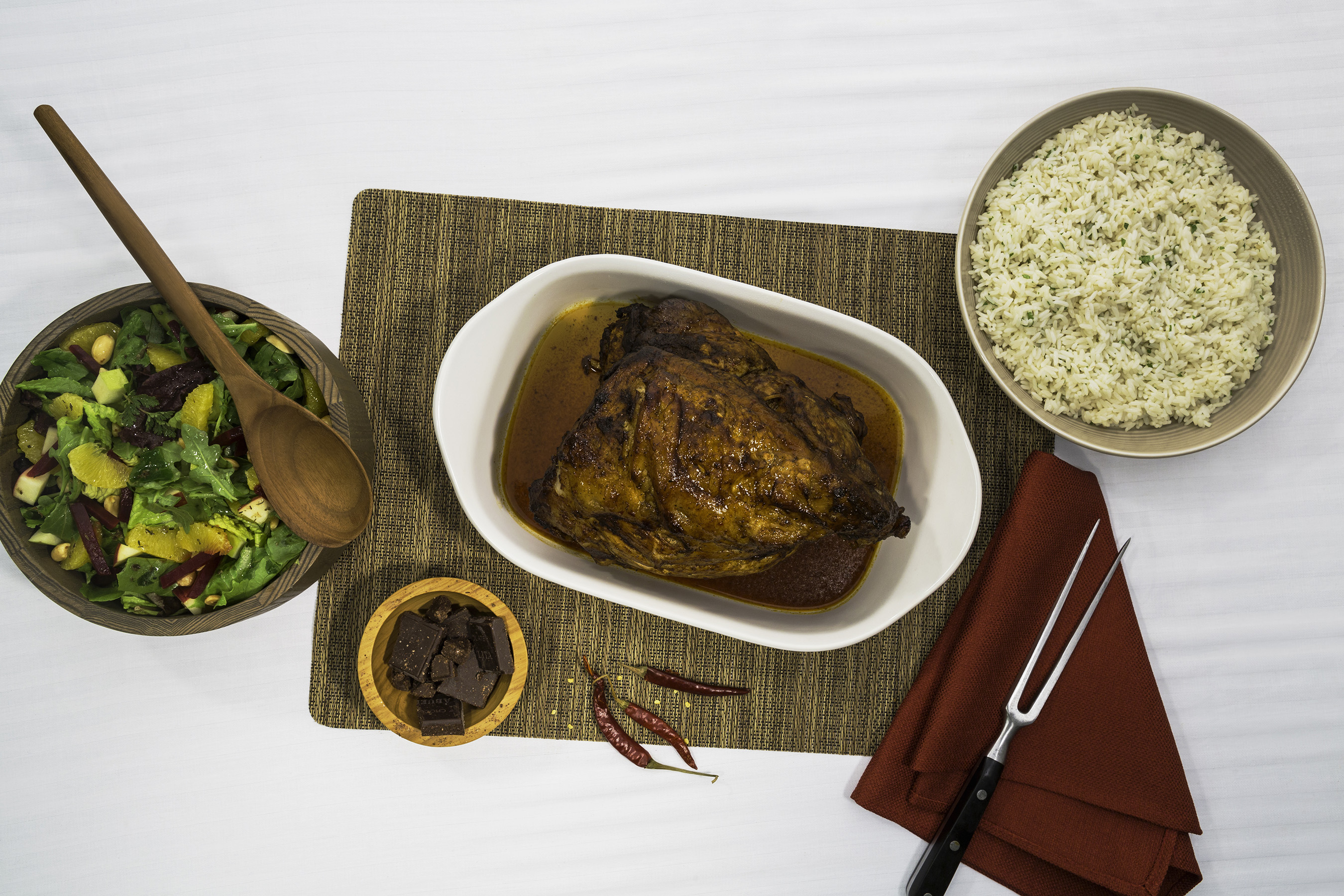 Pork Leg with Chiles and Chocolate