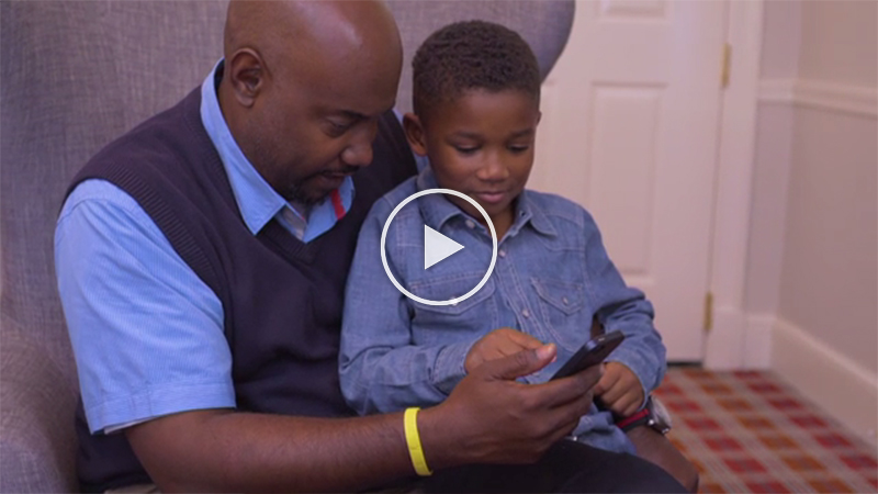 Safety Central is a great tool for families to help keep their children safe. (B-roll of families using the Safety Central app.)