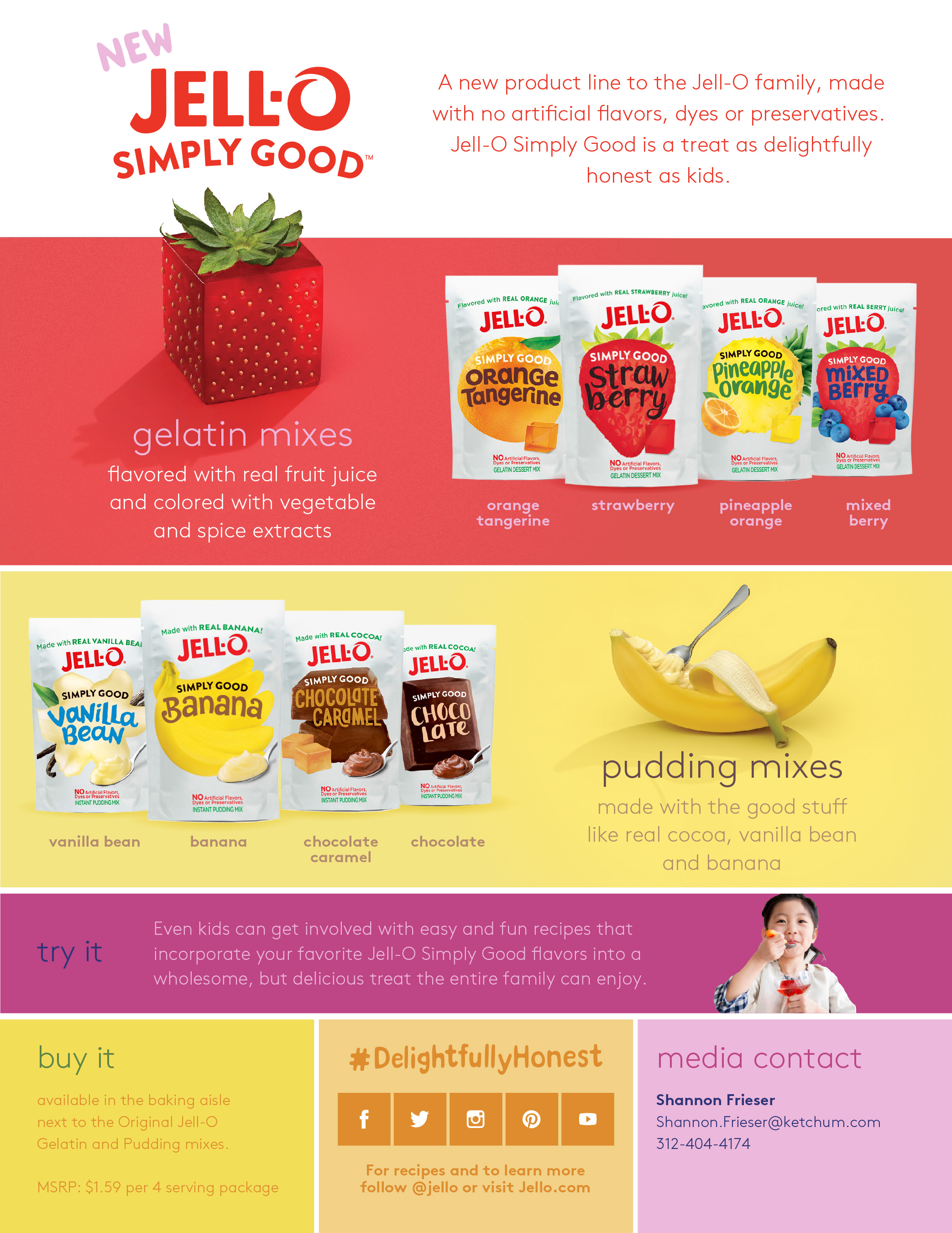 Iconic Jell-O Brand Breaks The Mold With Launch Of New Jell-O Simply Good Product Line
