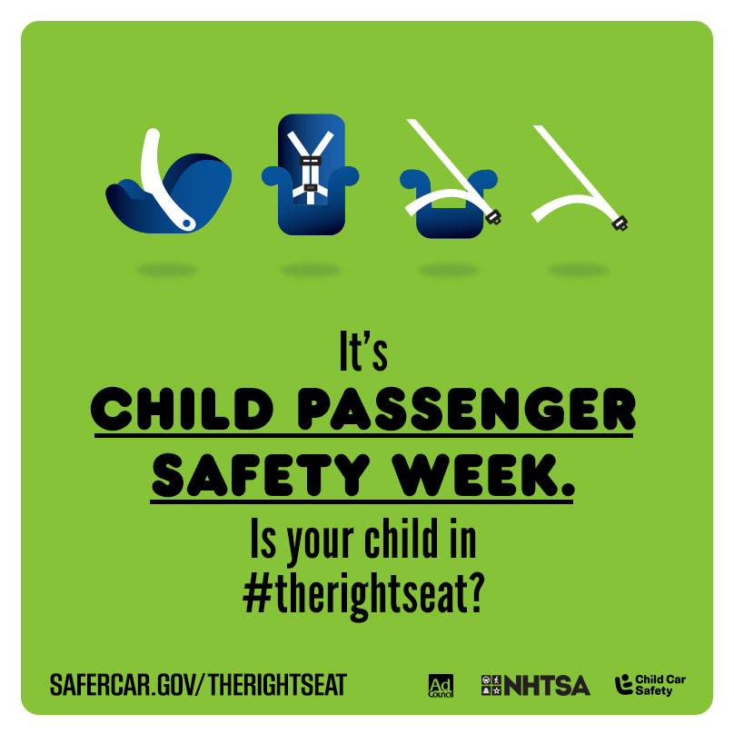 NHTSA Highlights Seat Belts and Car Seats during Child Passenger Safety Week