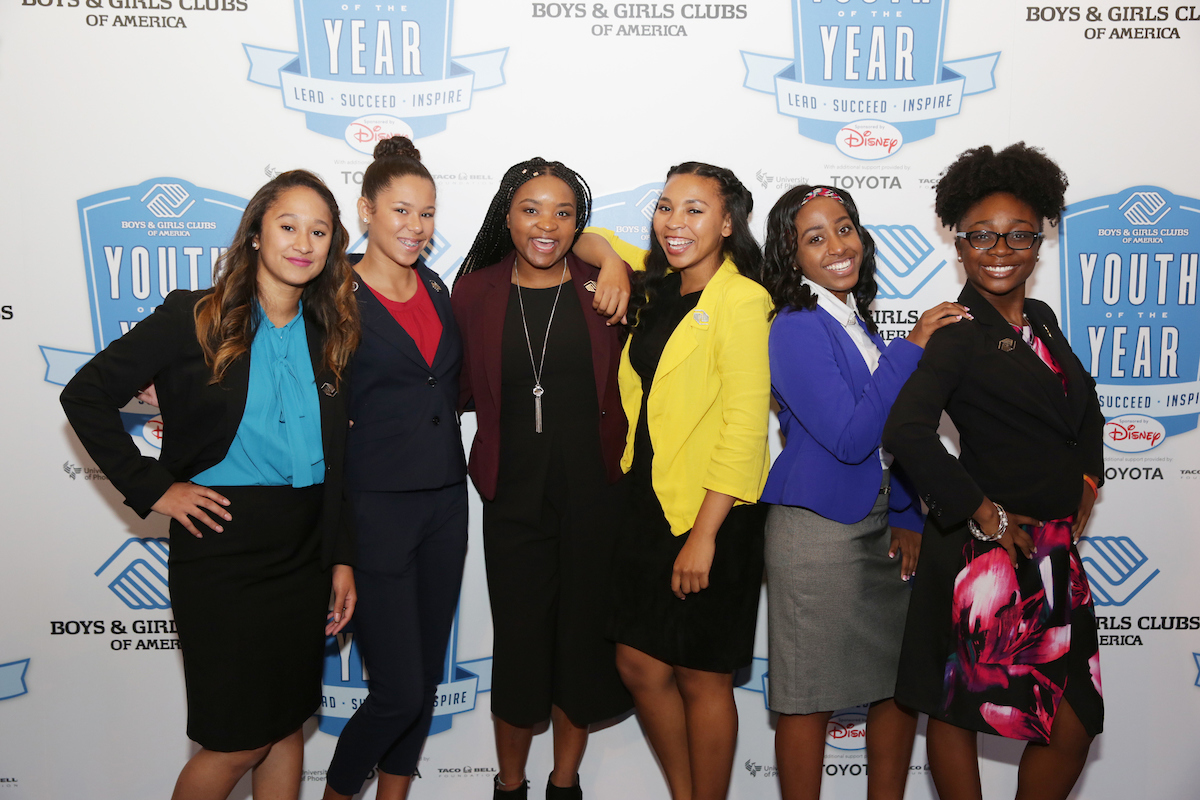 Six National Youth of the Year Finalists Pose Before Ceremony
