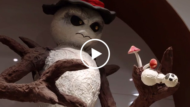 Sizzle reel of Executive Pastry Chef Claude Escamilla sharing his team's inspiration behind the spooky Halloween displays at Jean Philippe Patisserie