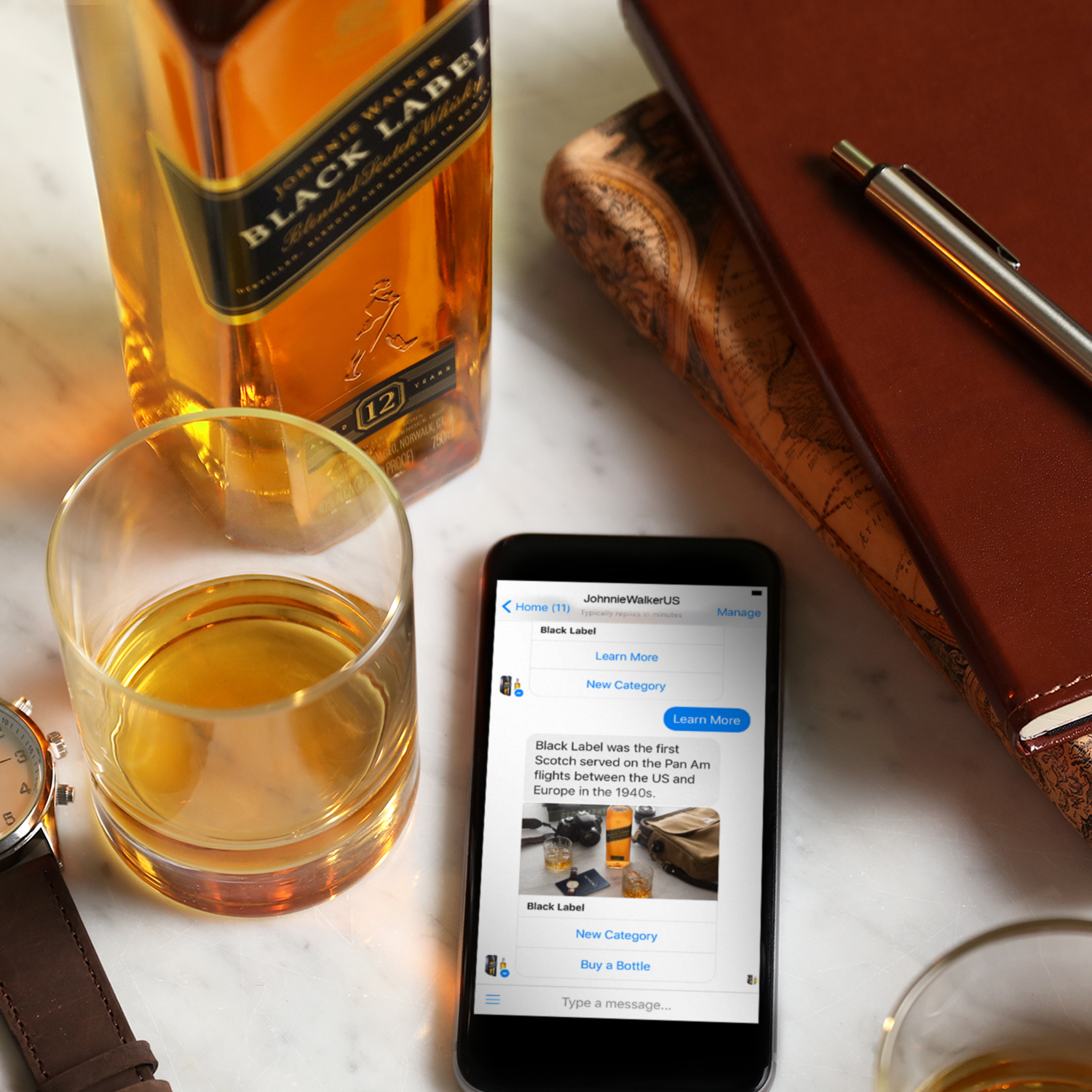 Johnnie Walker launches a bot for Messenger bringing whisky tasting and education to your fingertips
