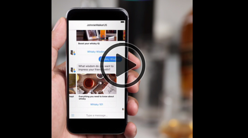 Consult the Johnnie Walker bot for Messenger to receive a guided tasting experience, whisky and brand knowledge, cocktail recipes and more