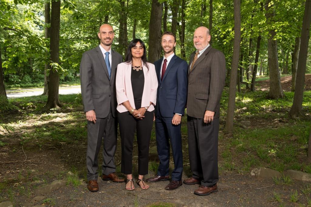 Dr. Joseph Allen, Dr. Piers MacNaughton, Dr. Jack Spengler, Harvard T.H. Chan School of Public Health; Dr. Usha Satish (second from left), SUNY Upstate Medical University.
