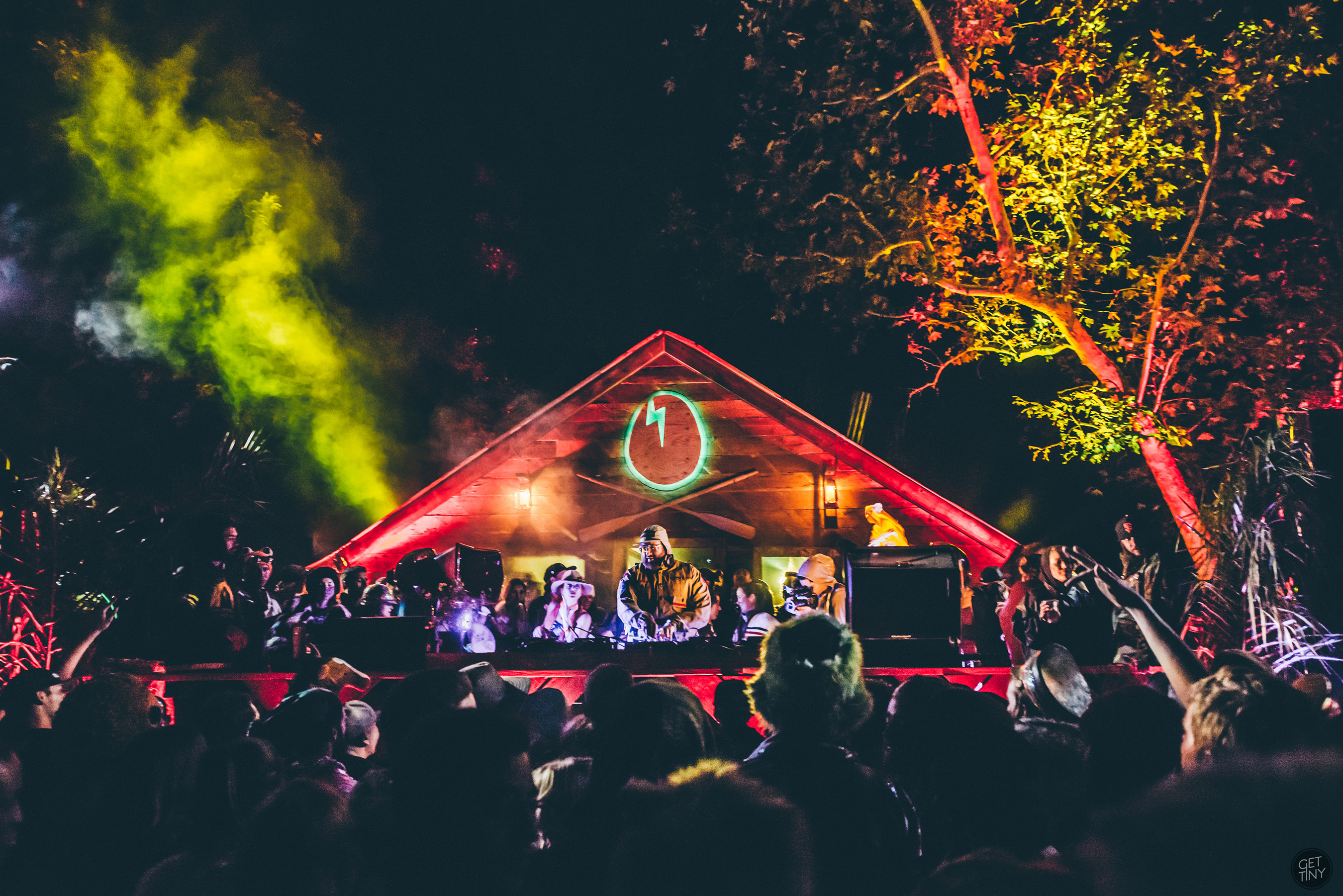 DIRTYBIRD members premiere the Smirnoff Sound Collective documentary at 2nd annual Campout in Silverado, California.