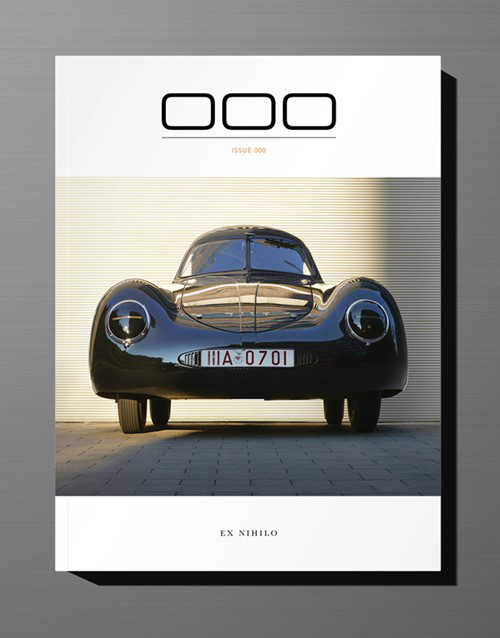 The cover of Issue 000 depicts 1939 Type 64 of Prototype Museum Hamburg, as photographed by Jeff Zwart.
