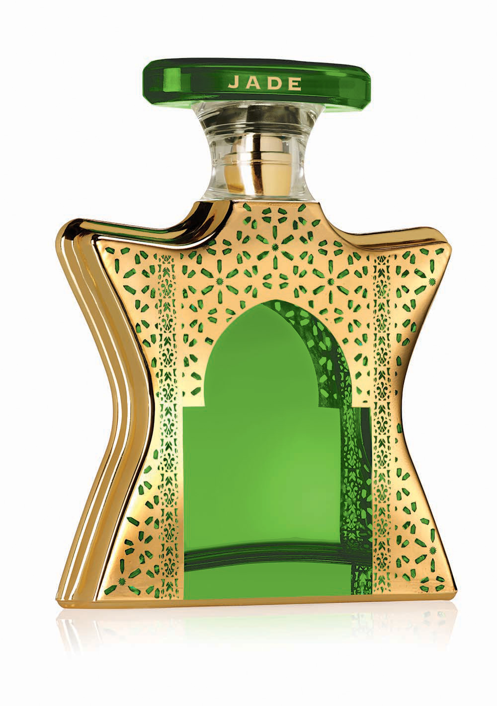 Vibrant and high-energy, Dubai Jade blends sparkling florals with languid incense.