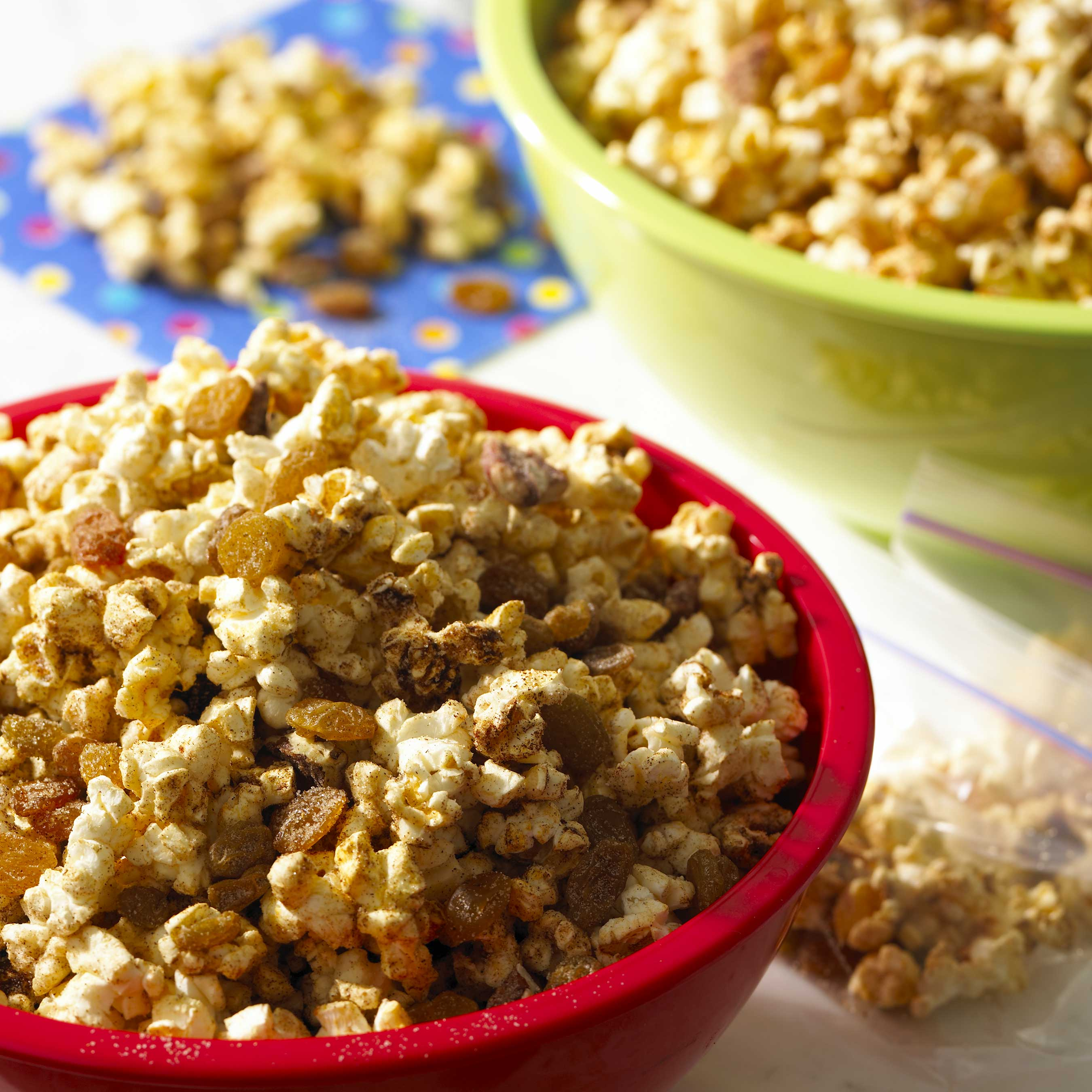 Pumpkin Pie Popcorn Mix with California Raisins