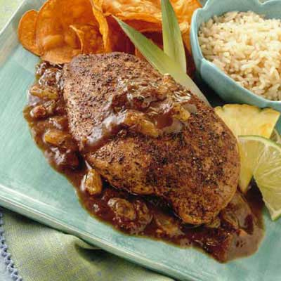 Sweet and Spicy Jerk Chicken with California Raisins