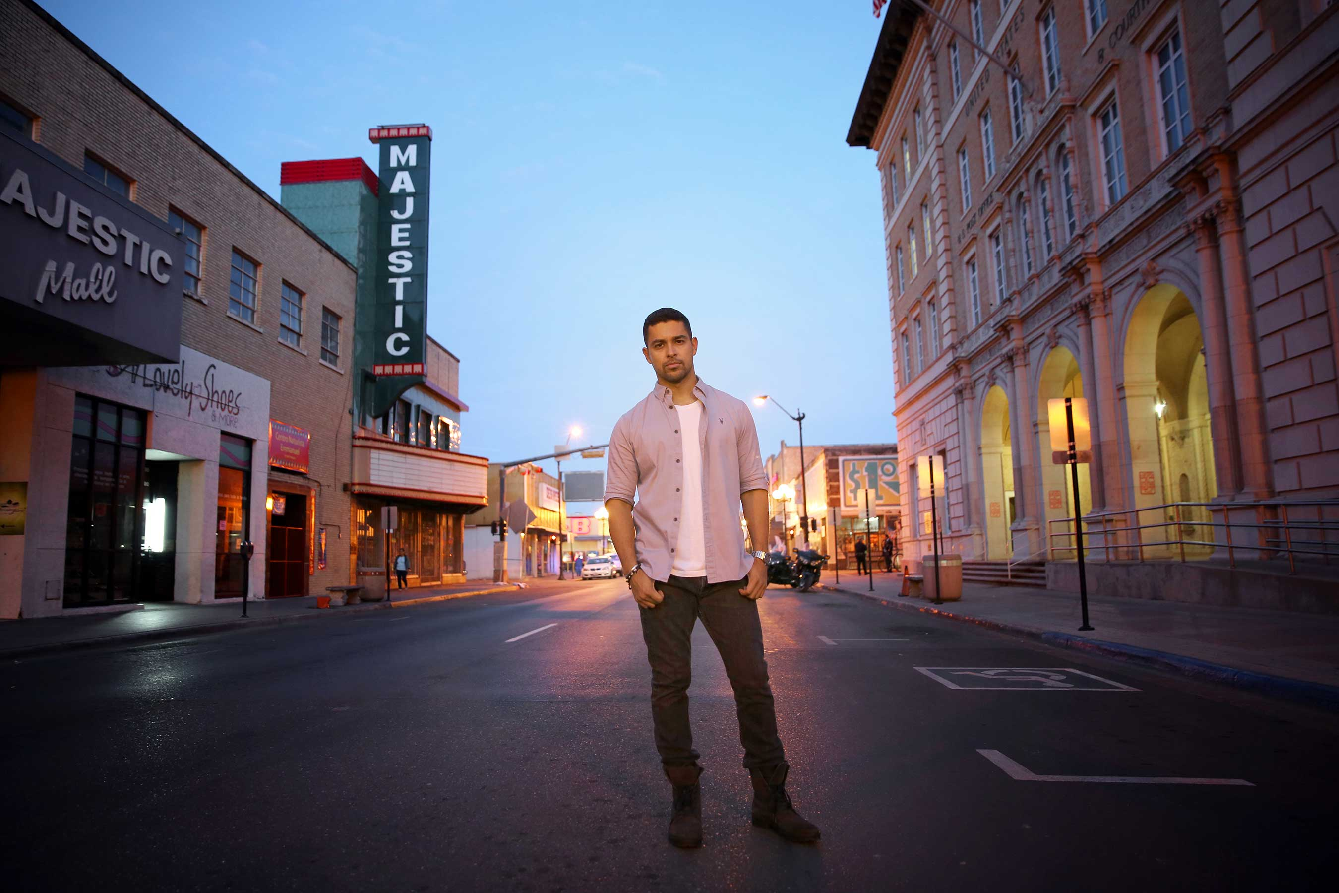 Wilmer Valderrama visits downtown Brownsville to take a stand for cultural progress in support of Johnnie Walker's Keep Walking America campaign (Rachel Murray/Getty Images).