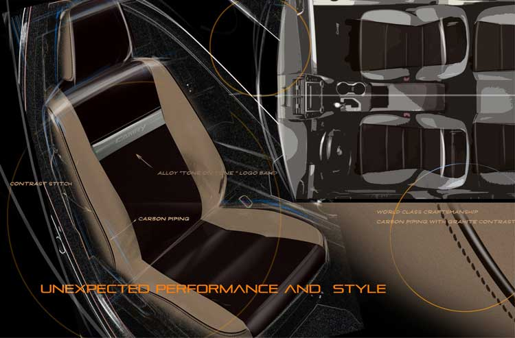 The unexpected performance and style of Katzkin leather interiors, with more than 3000 customizable patterns, utilizes state-of-the-art laser technology to complement artisan craftsmanship.