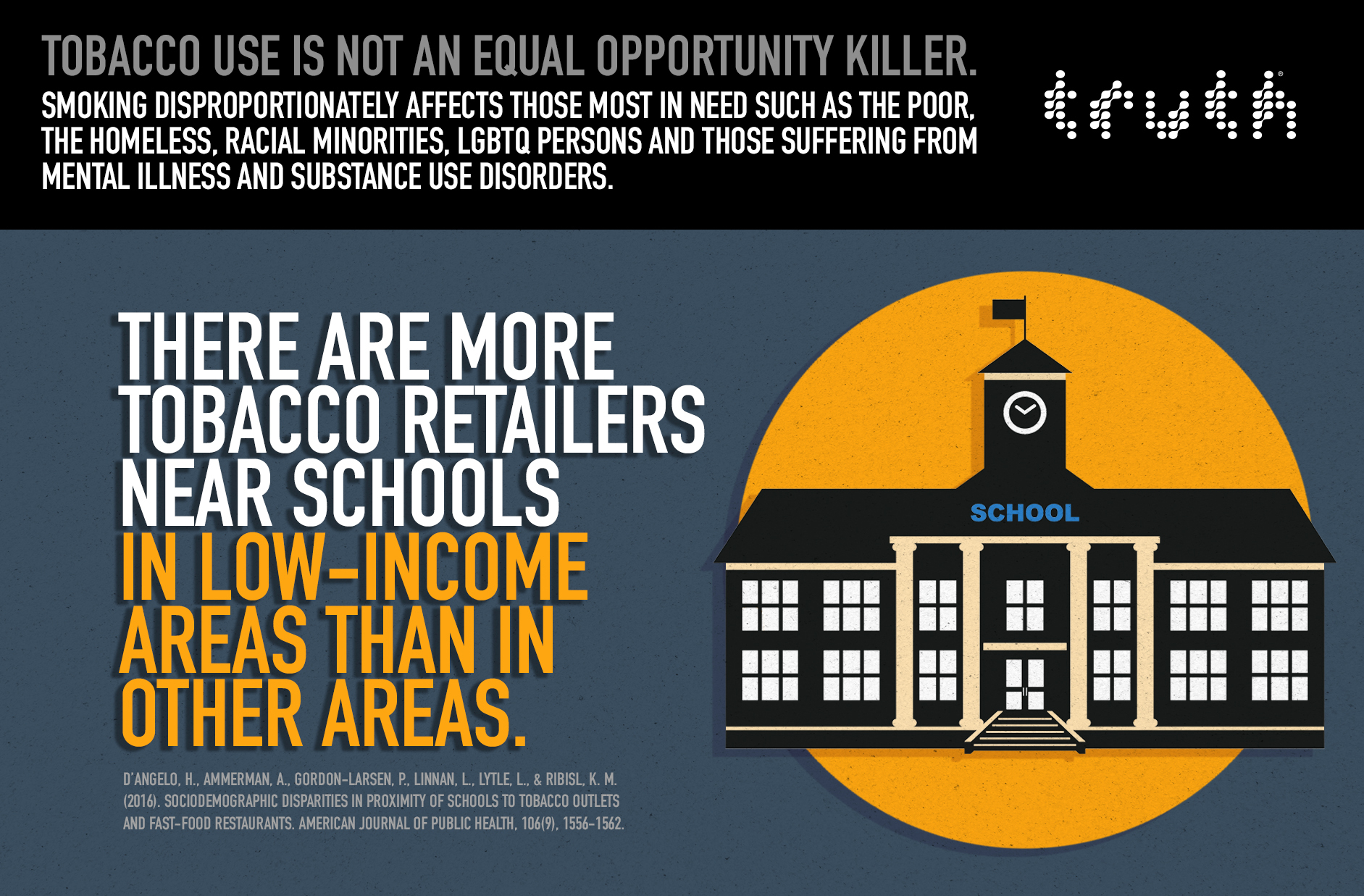 More Tobacco Retailers Near Schools in Low-Income Areas – Infographic