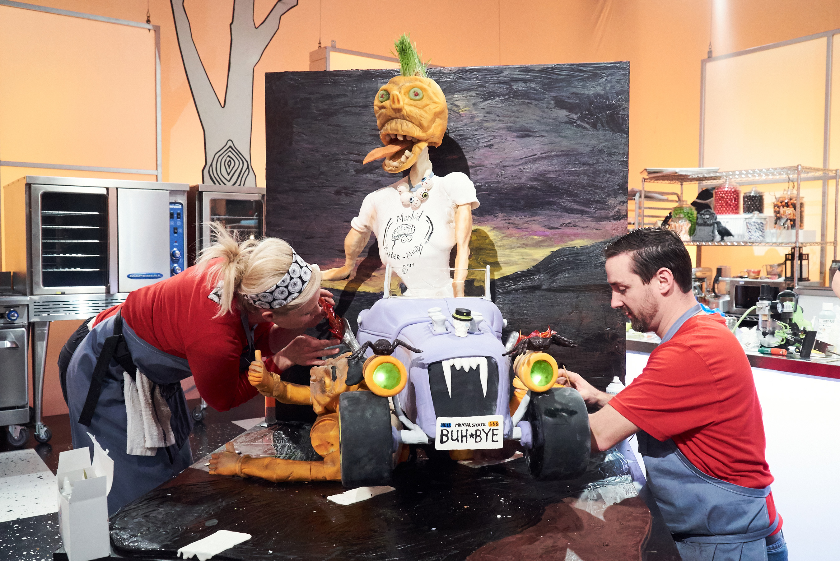 Team Morbid Masterminds on Food Network's Halloween Wars