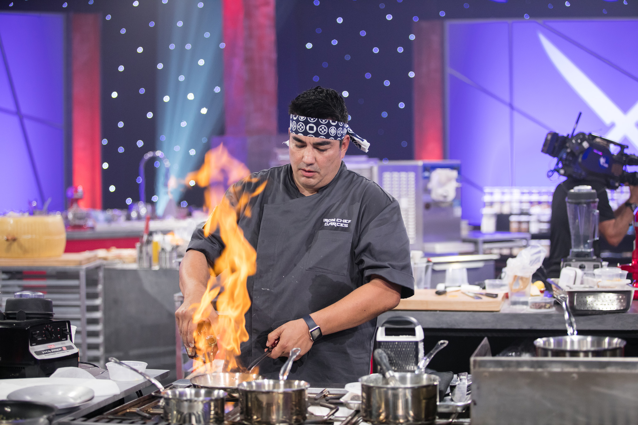 Iron Chef Jose Garces on Food Network's Iron Chef Showdown