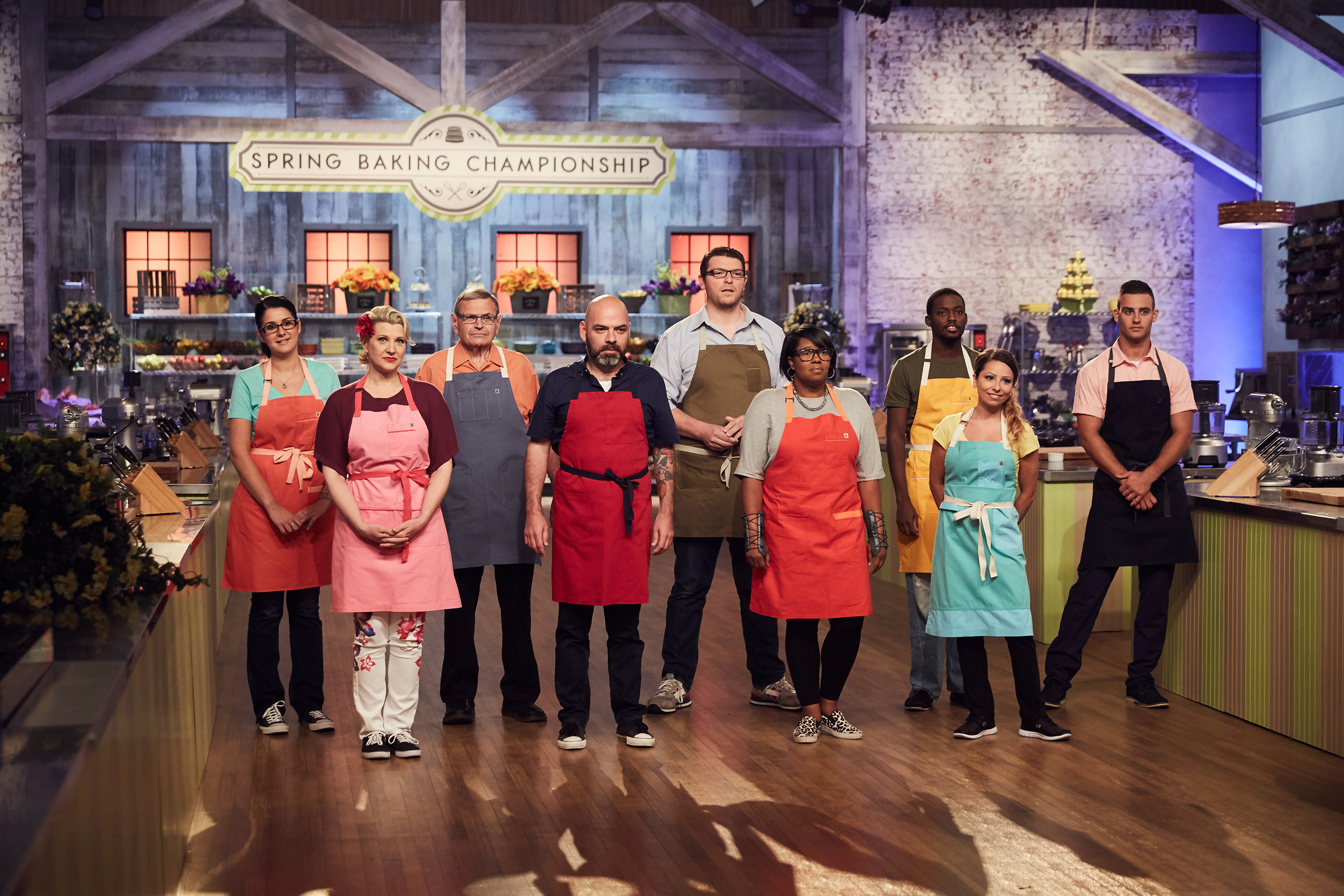 The competitors of Food Network's Spring Baking Championship