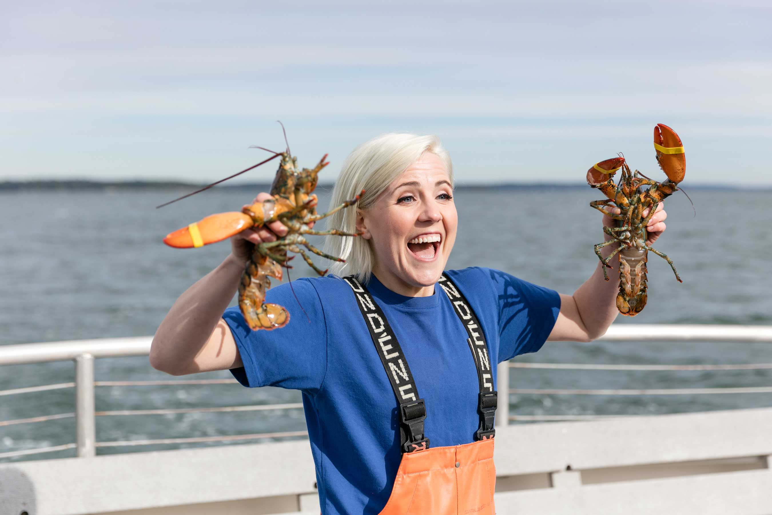 Hannah Hart in Portland, Maine on Food Network's I Hart Food