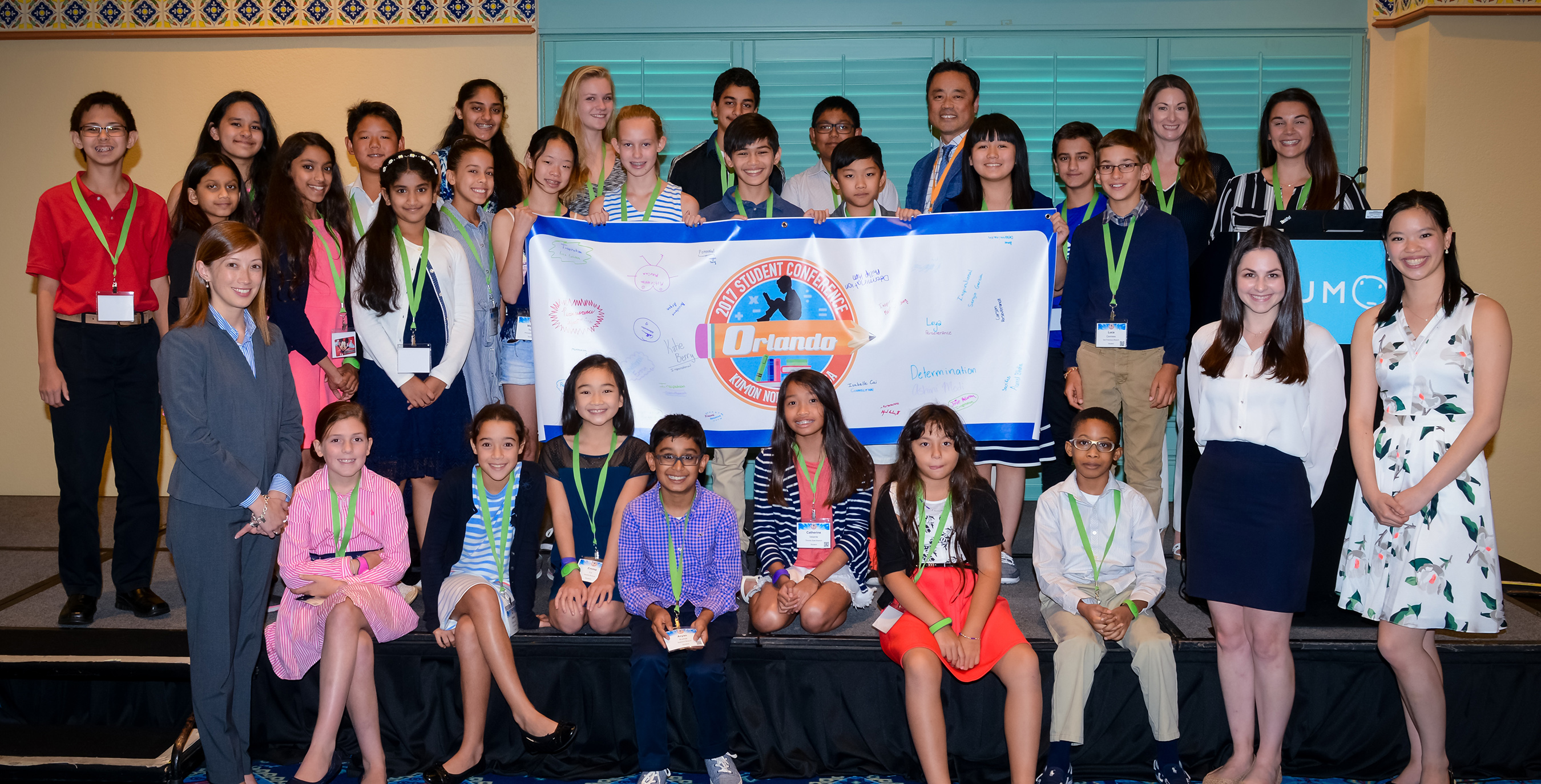 25 Kumon Students studying at least three years above grade level attended the inaugural Student Conference at Disney's Coronado Springs Resort in Orlando, Florida.