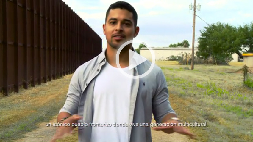 Wilmer Valderrama visits downtown Brownsville to take a stand for cultural progress in support of Johnnie Walker's Keep Walking America campaign.