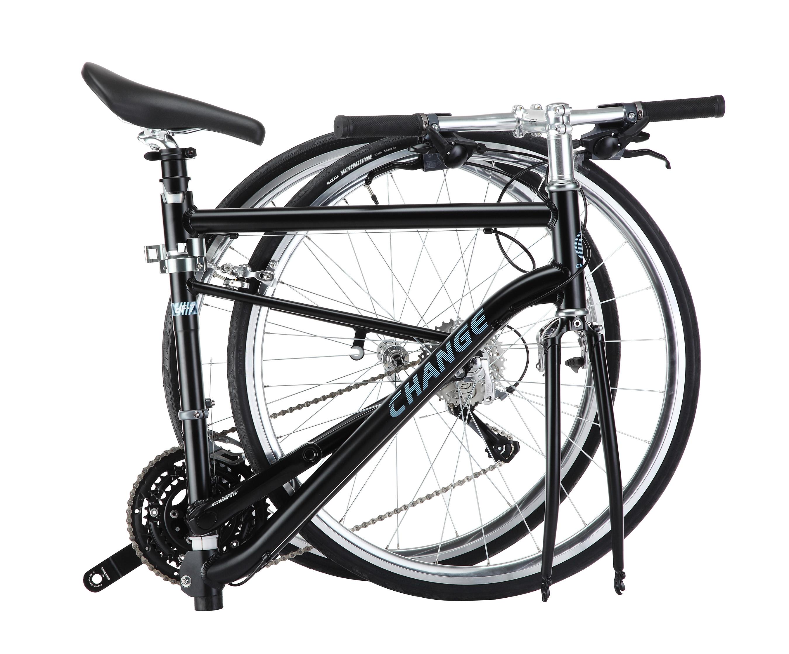 DF-702 commuter bike folded