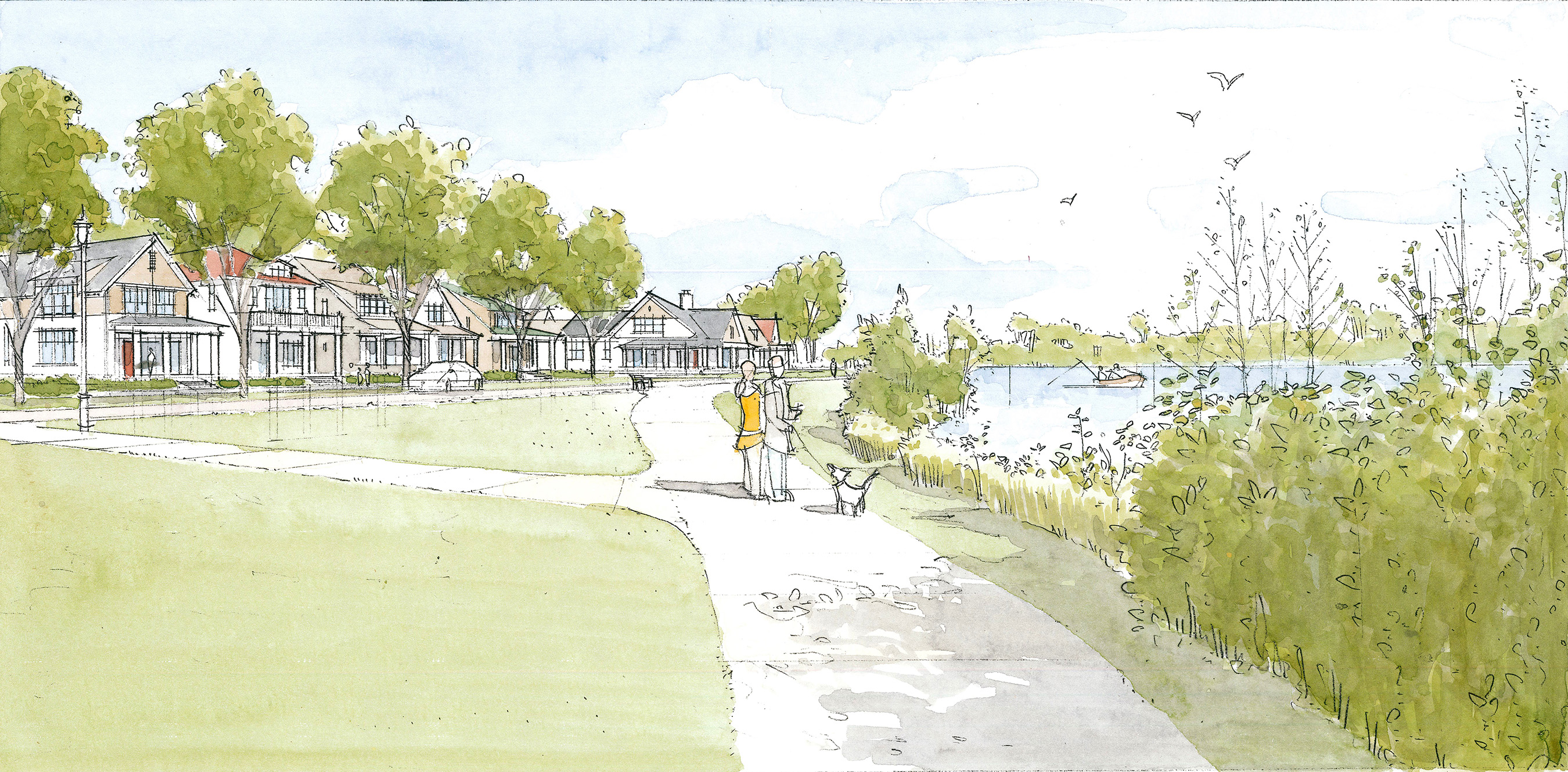 Sitting at the confluence of the Paw Paw River and the St. Joseph River, homeowners at Harbor Village will have a view of the waterfront from nearly every property.