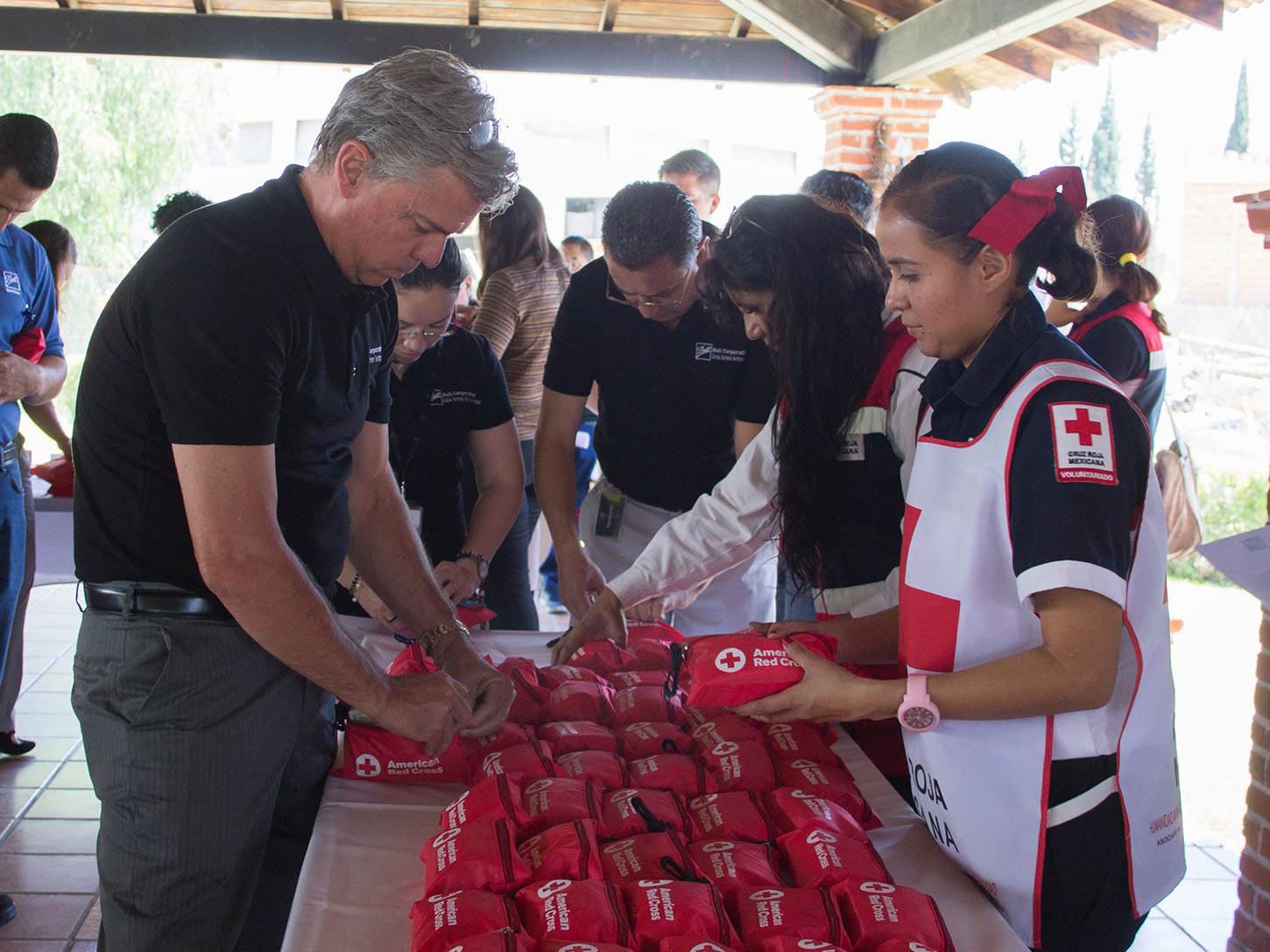 Ball employees and executives teamed up recently in Queretaro, Mexico, to build first aid kits for victims affected by major earthquakes that have shaken the country.