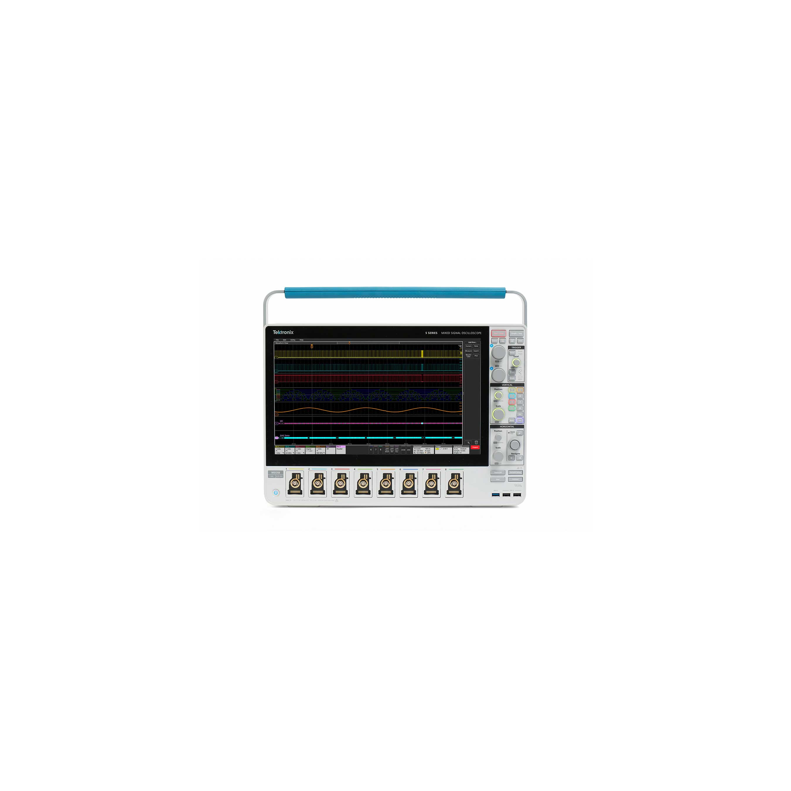 5 Series MSO redefines the midrange oscilloscope with a host of innovations delivering unprecedented flexibility and unmatched visibility into complex embedded systems.