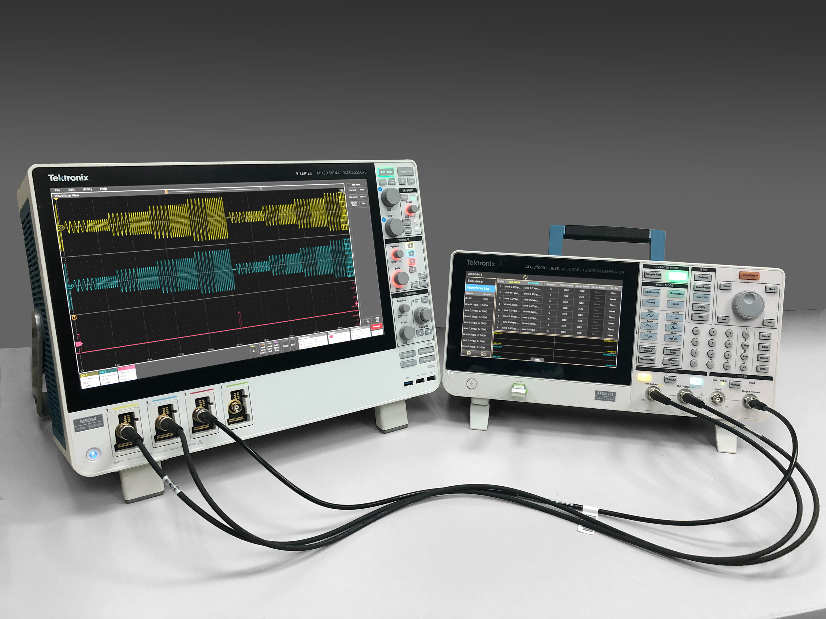 Like an MP3 player, the AFG31000 can output waveforms in a user-defined sequence, offering AWG functionality for a fraction of the cost.