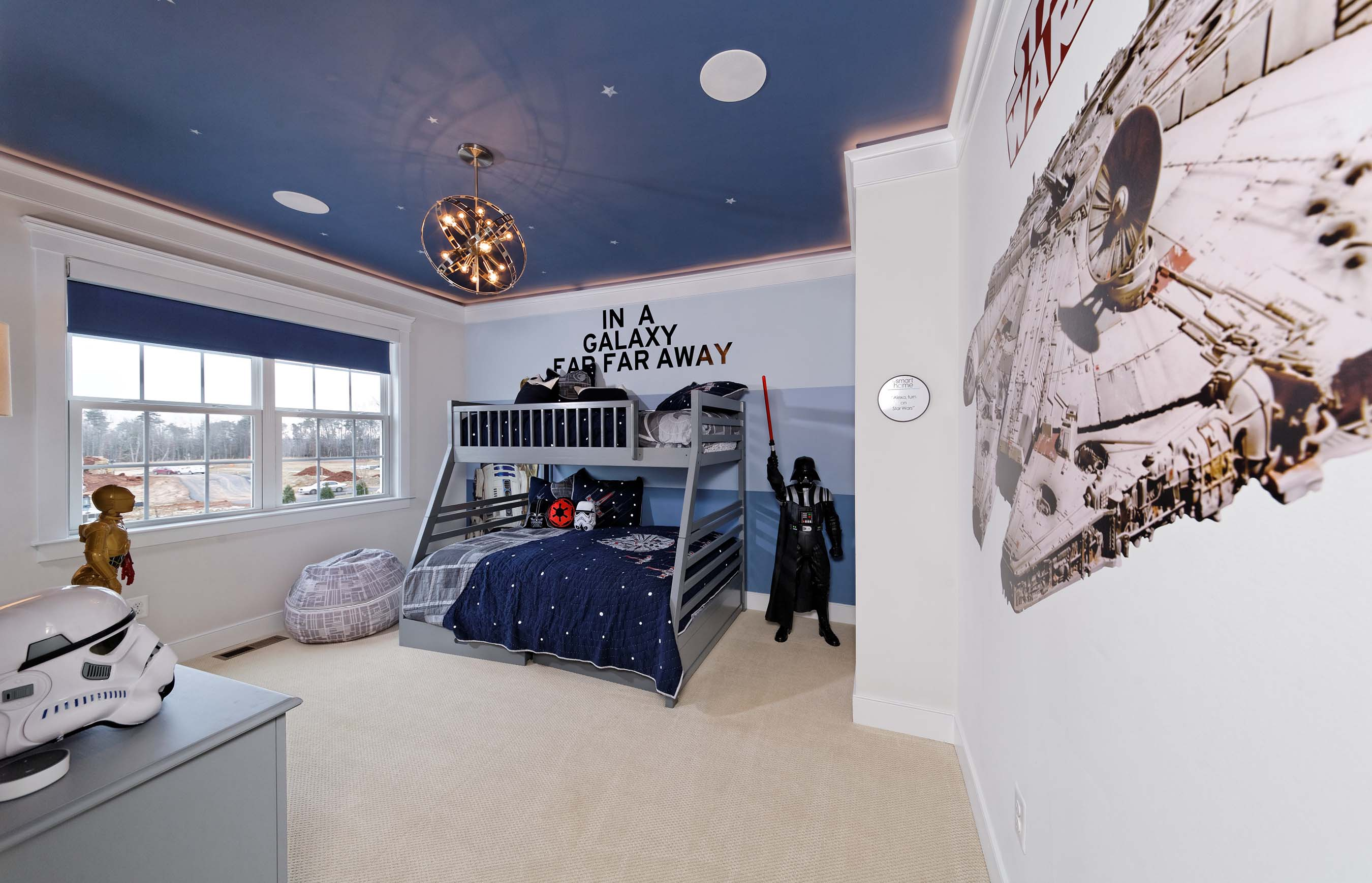 "The Smart Home features custom voice-automation capabilities in children's bedrooms. Don't miss this ""Star Wars""-themed room."