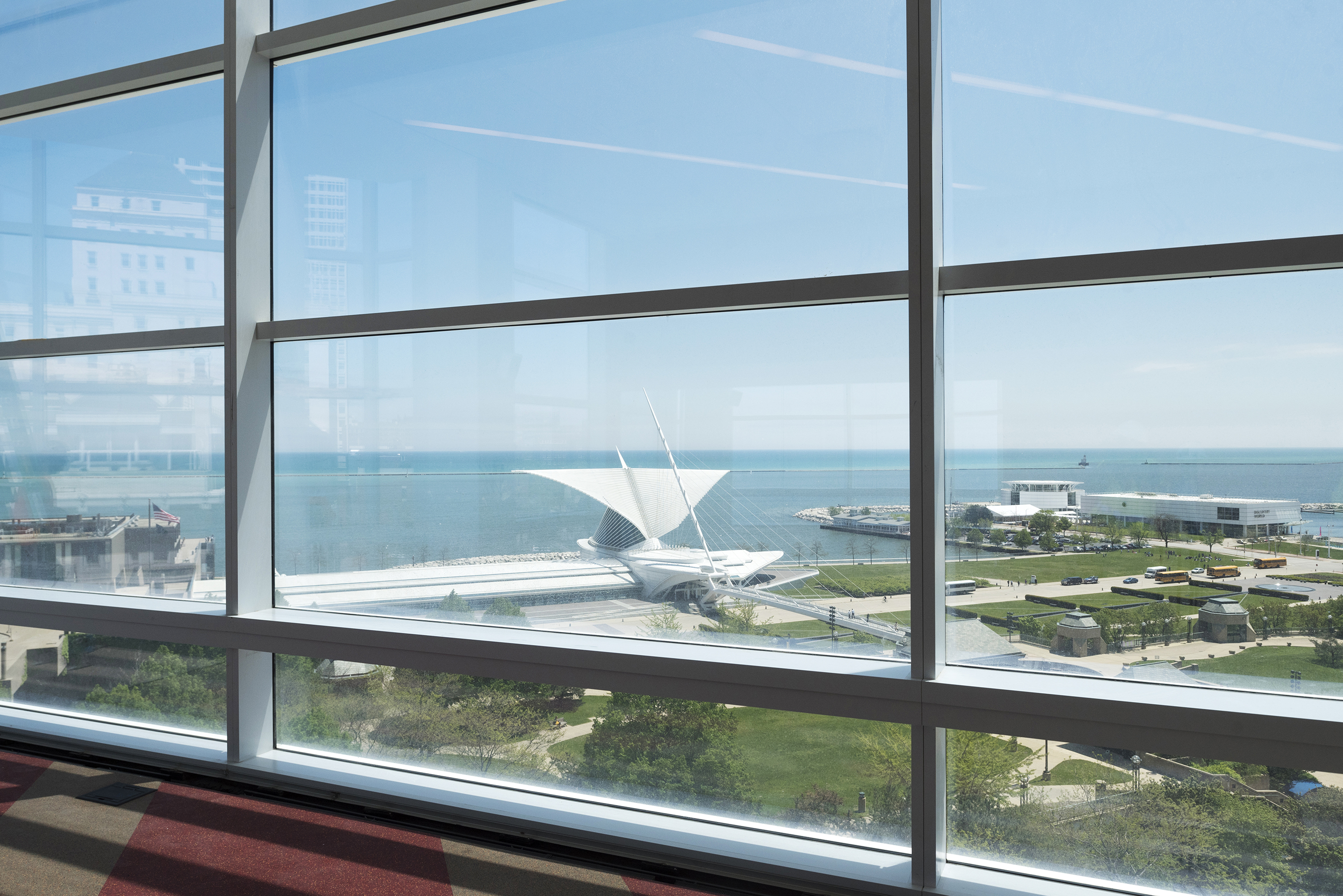 Each floor of The Tower has 10-foot, floor-to-ceiling windows to bring in maximum natural light and showcase views of Milwaukee and Lake Michigan.