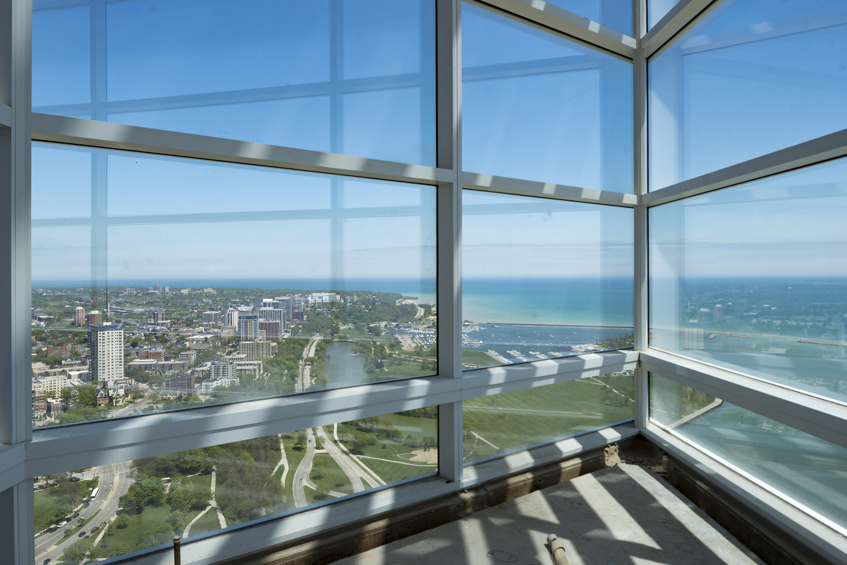 The Top of The Tower on the 32nd floor is open to all employees and offers outstanding views of Milwaukee and Lake Michigan.