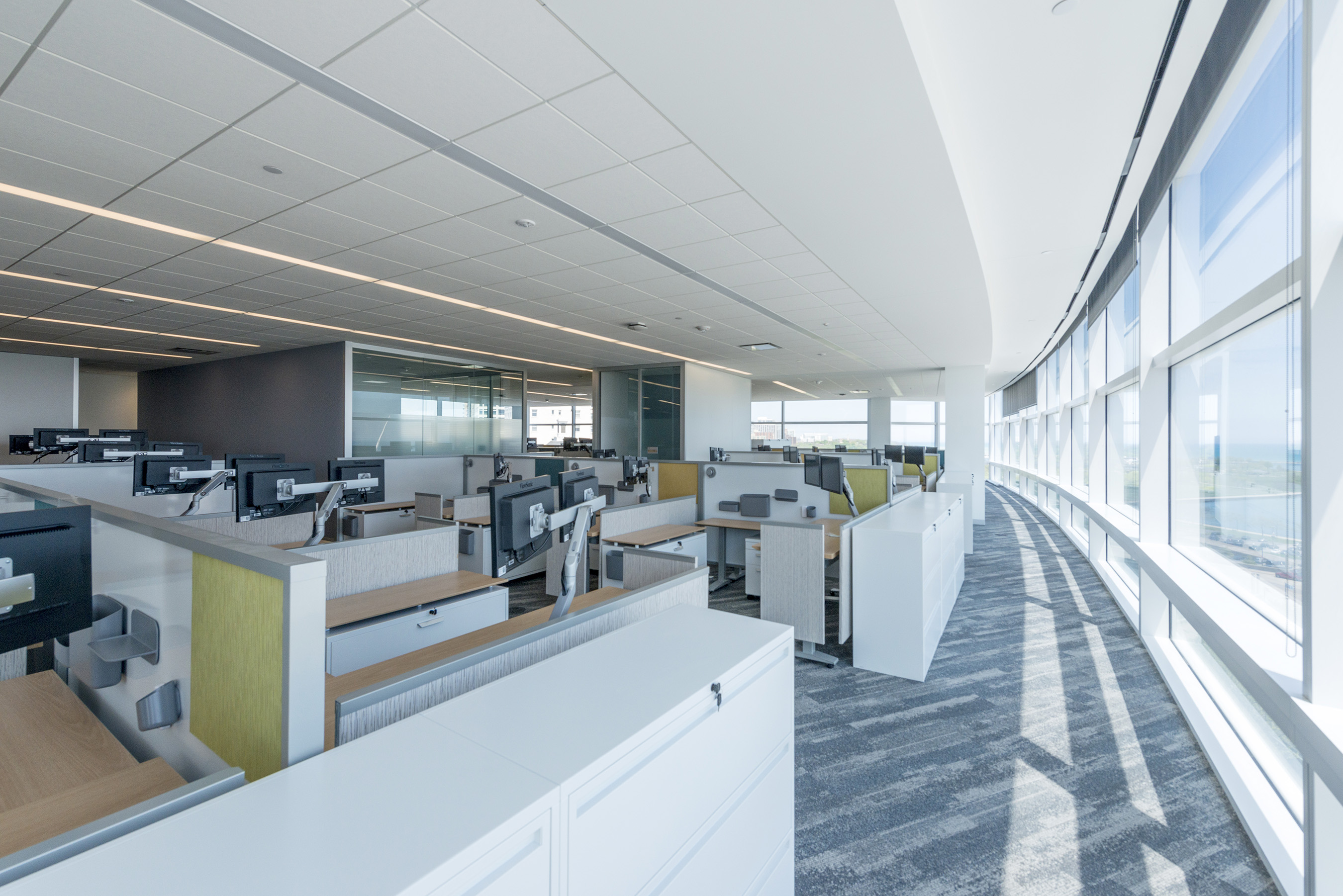 The new innovative and flexible work space throughout The Tower is designed to increase collaboration and can be customized based on each department's individual needs.