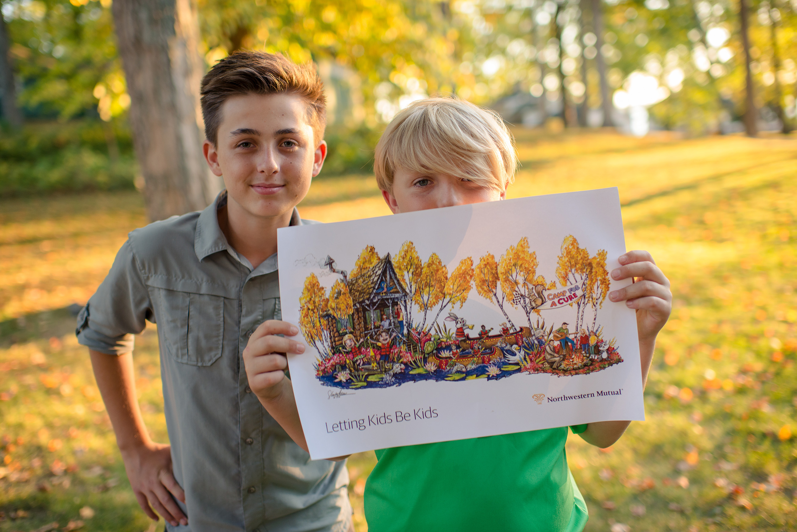 Camp has been an important part of 13-year-old Bennett Unger's cancer survivorship journey. Bennett and brother Boden will ride on Northwestern Mutual's 2018 Rose Parade® float.