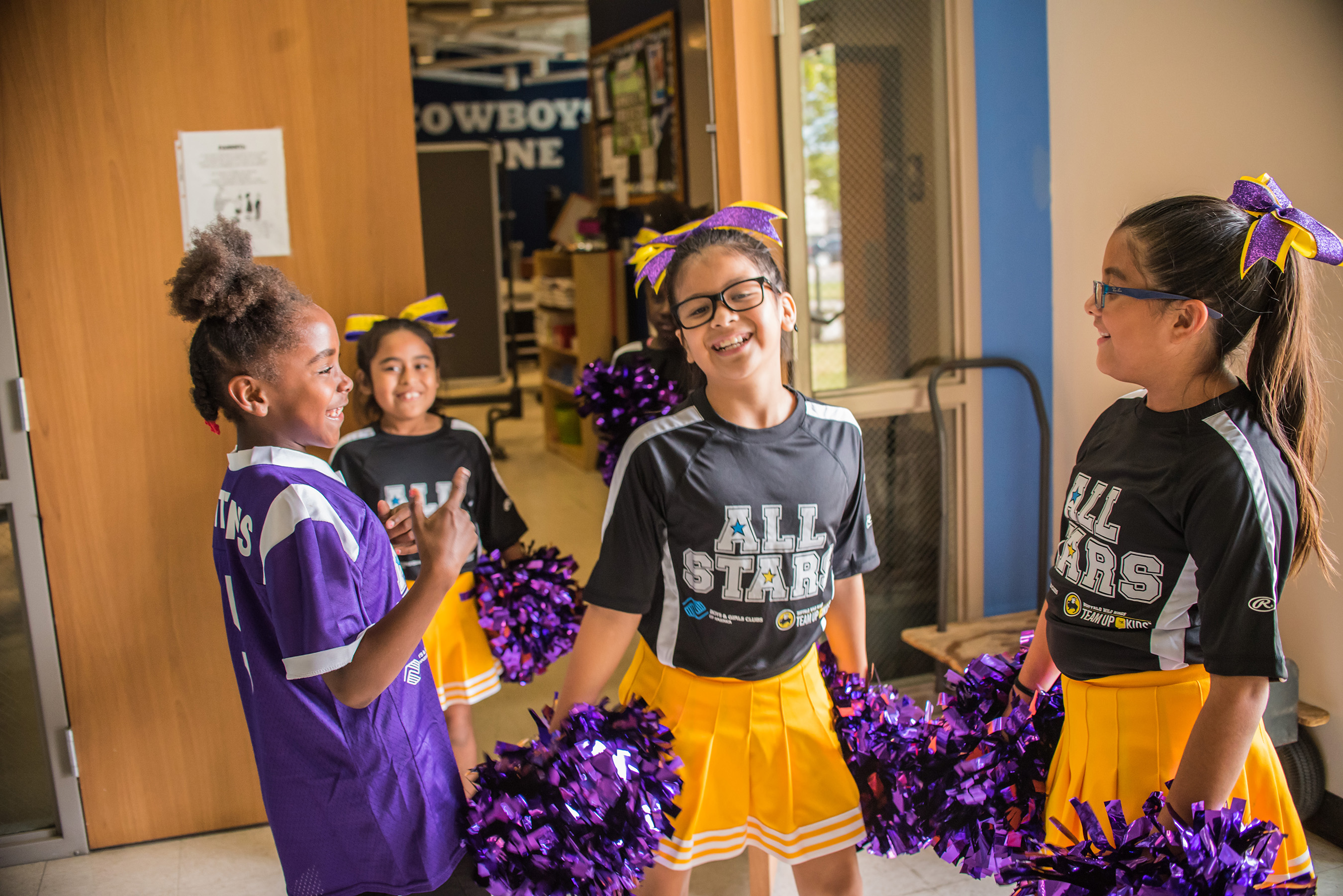 Club members involved in the ALL STARS cheer program
