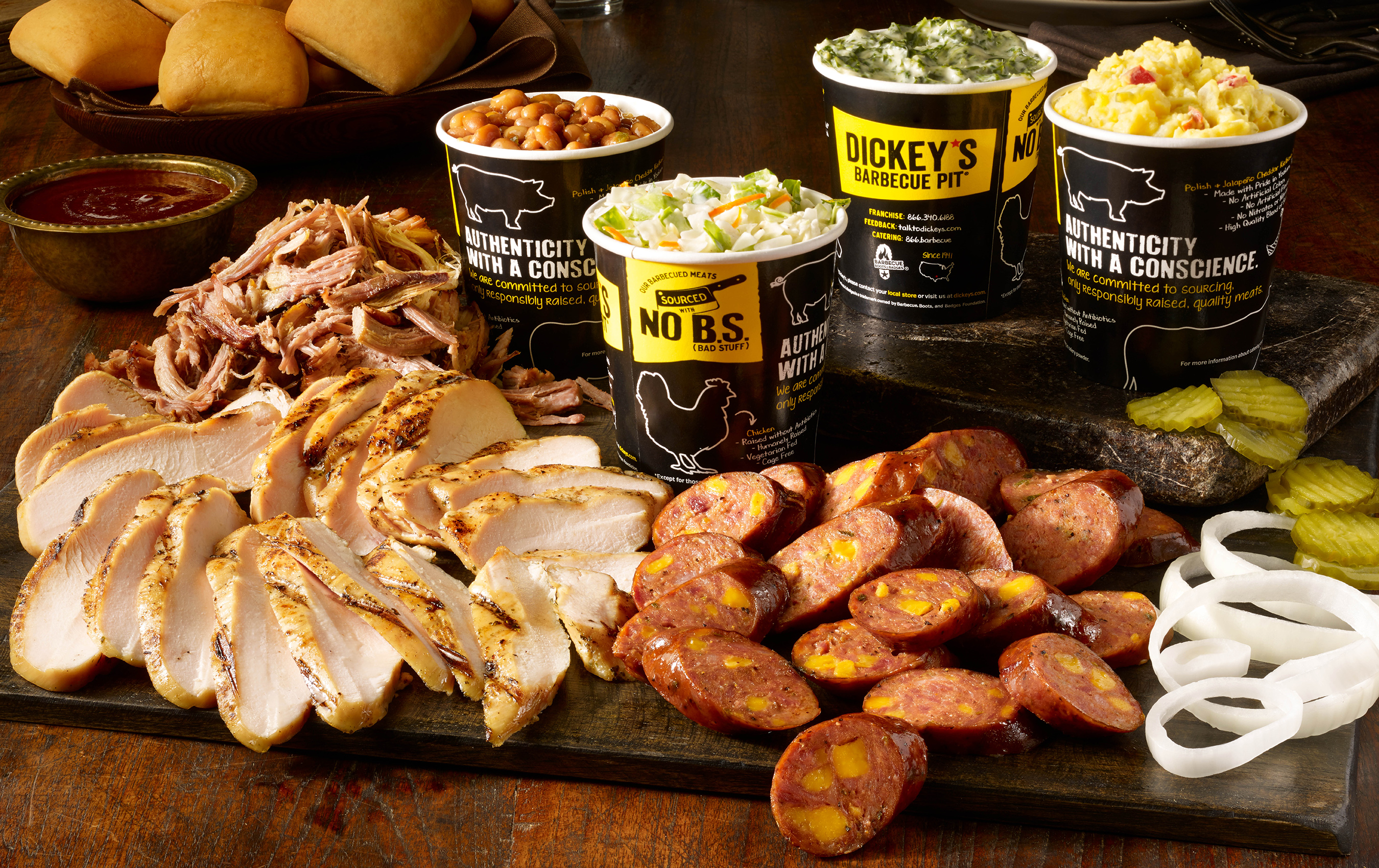 Dickey's guests have the option to order delivery through online ordering or the Dickey's App