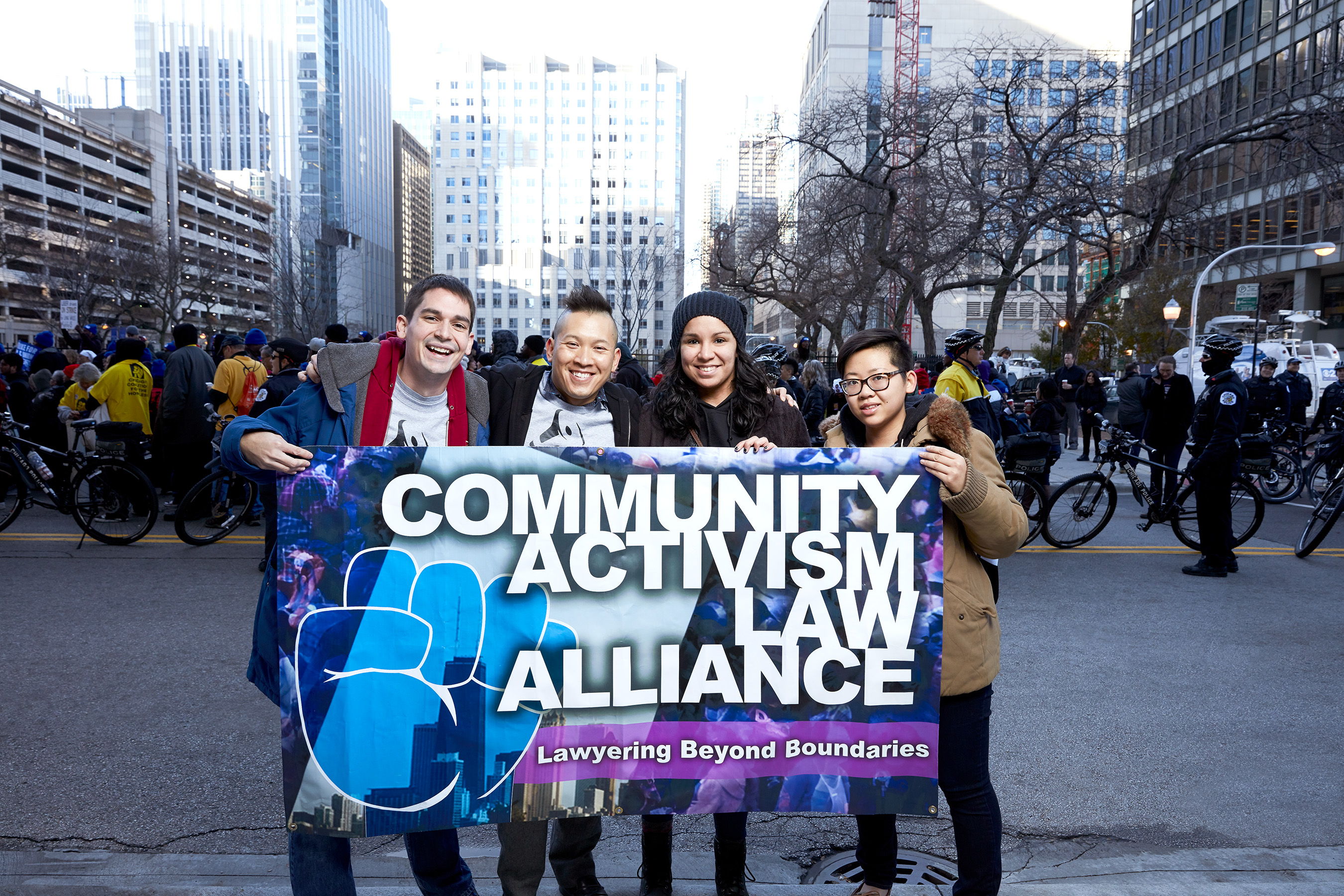 KIND People Winner and founder of Community Activism Law Alliance, Lam Ho, with his team on the streets of Chicago