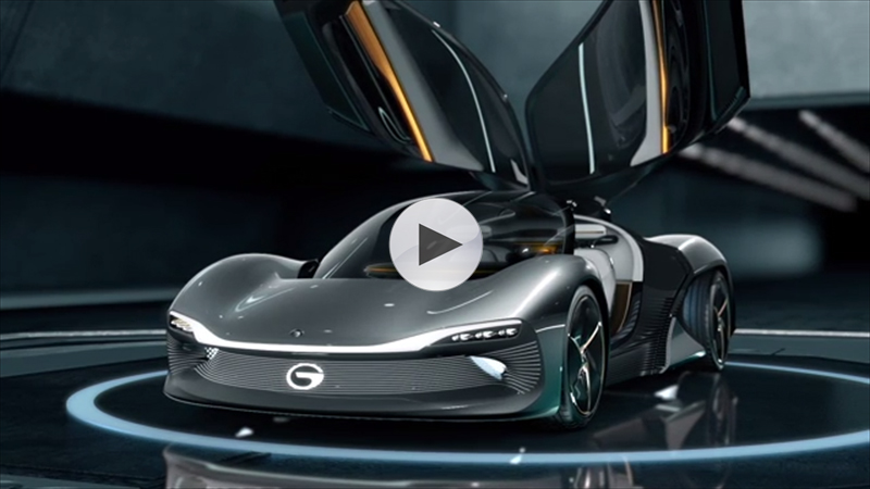 GAC Motor's EnLight is a smart electric supercar with latest cutting-edge technologies, futuristic design concepts and natural driving experience.