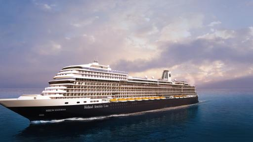 Holland America Line's Nieuw Statendam on the ocean