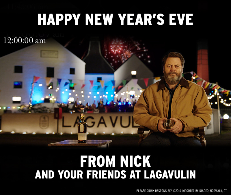 Happy New Year's Eve From Nick and Your Friends at Lagavulin